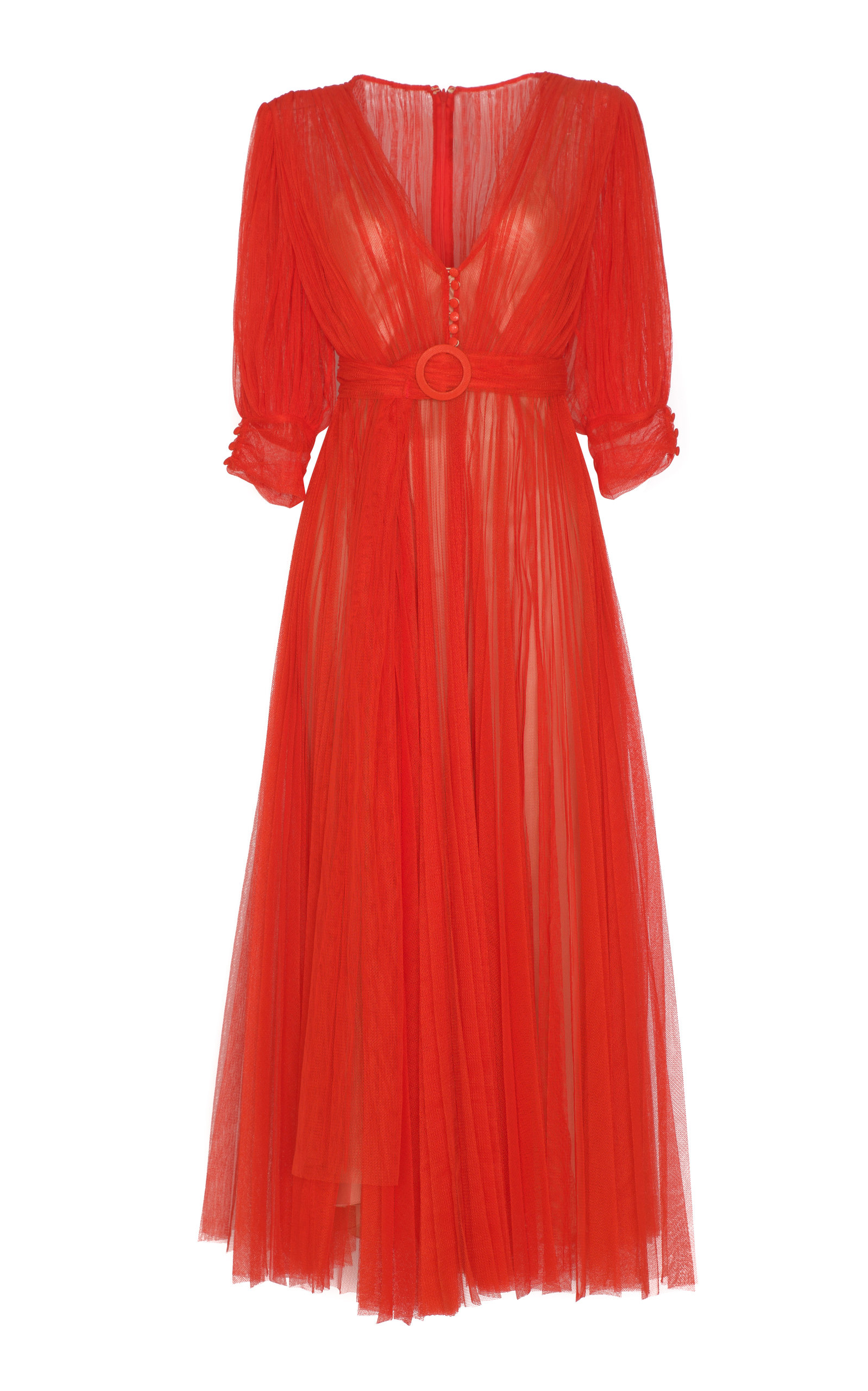 MARIA LUCIA HOHAN AMINAH PLEATED TULLE DRESS