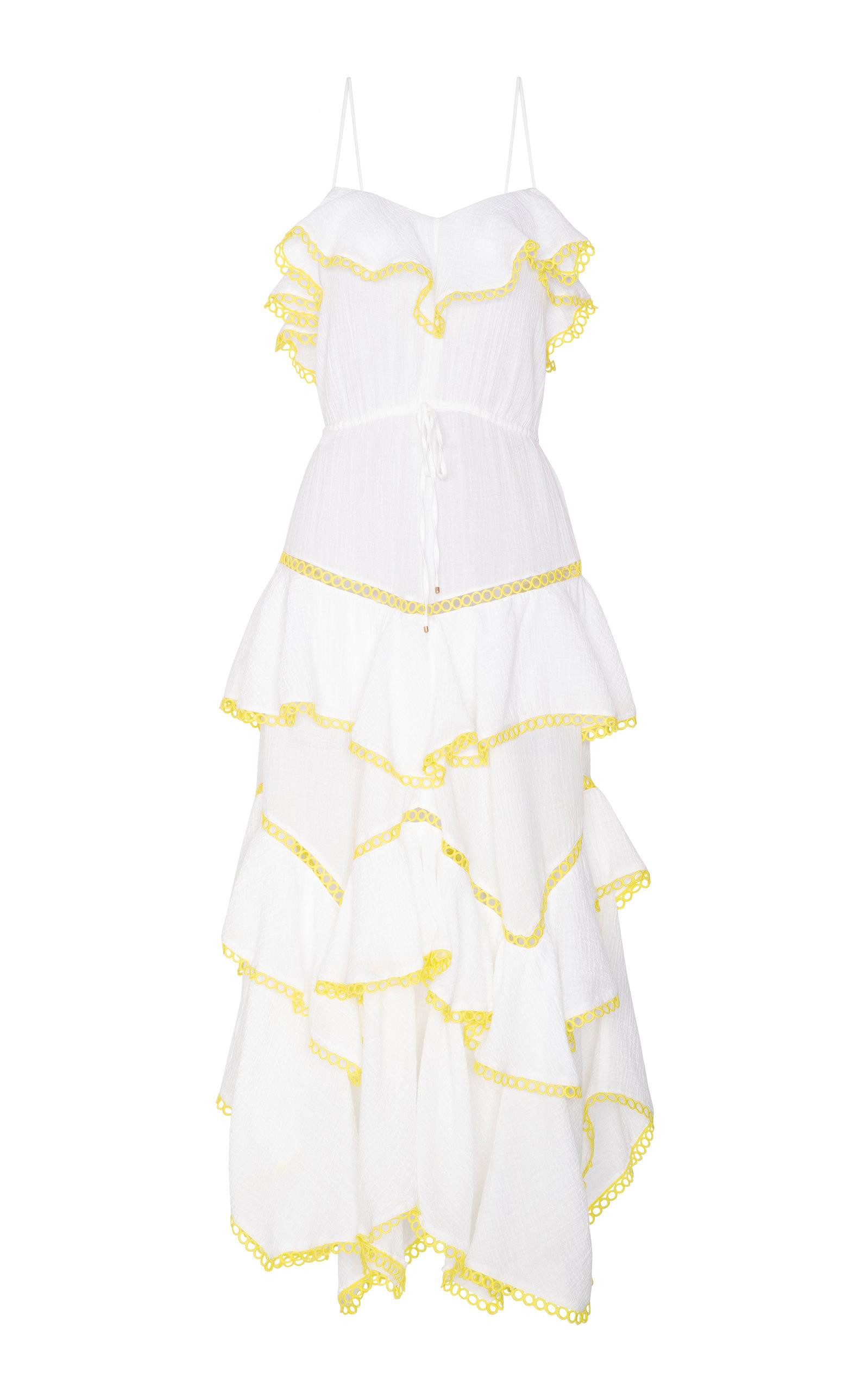 MARIA LUCIA HOHAN IRIS SLEEVELESS COTTON VOILE DRESS