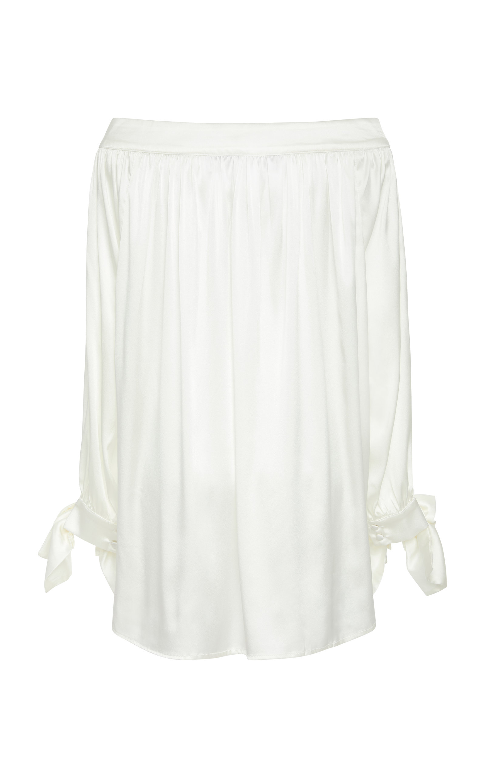 ACHEVAL PAMPA DESNUDA BOW SLEEVE BLOUSE