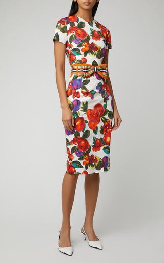 96d0cea12be5b Bow-Detailed Lace Knee-Length Dress by Rasario | Moda Operandi