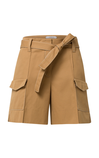 DOROTHEE SCHUMACHER | Dorothee Schumacher Belted Cotton Shorts | Goxip