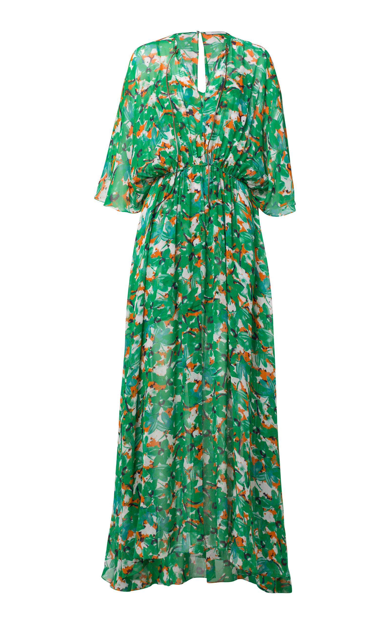 CARIBBEAN GARDENS GEORGETTE DRESS
