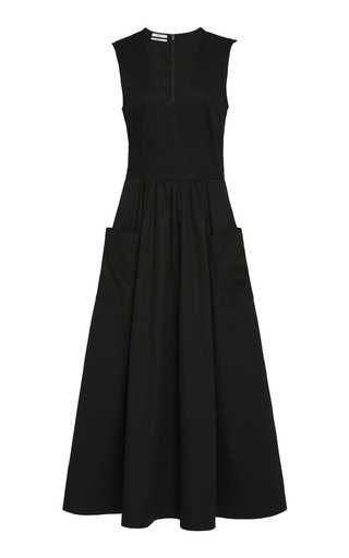 5d3bb8efbc Only 1 Left. Co. Sleeveless Cotton Midi Dress