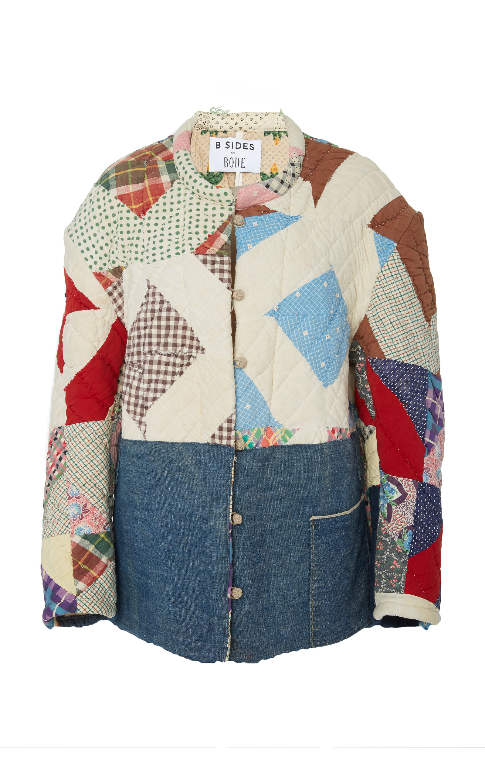 B SIDES Exclusive Patchwork Cotton Jacket in Multi