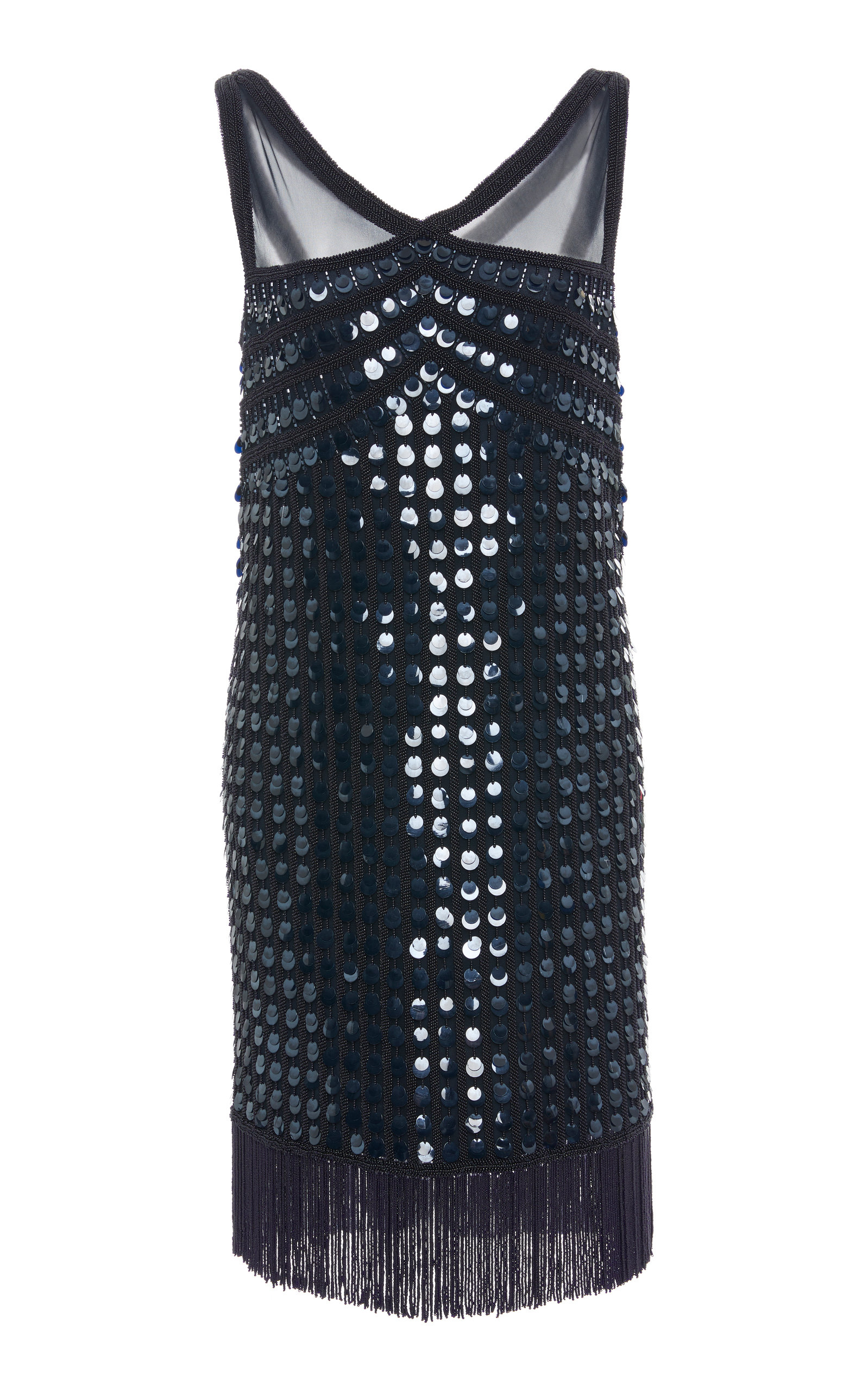 JOANNA MASTROIANNI V-NECK FLAPPER DRESS