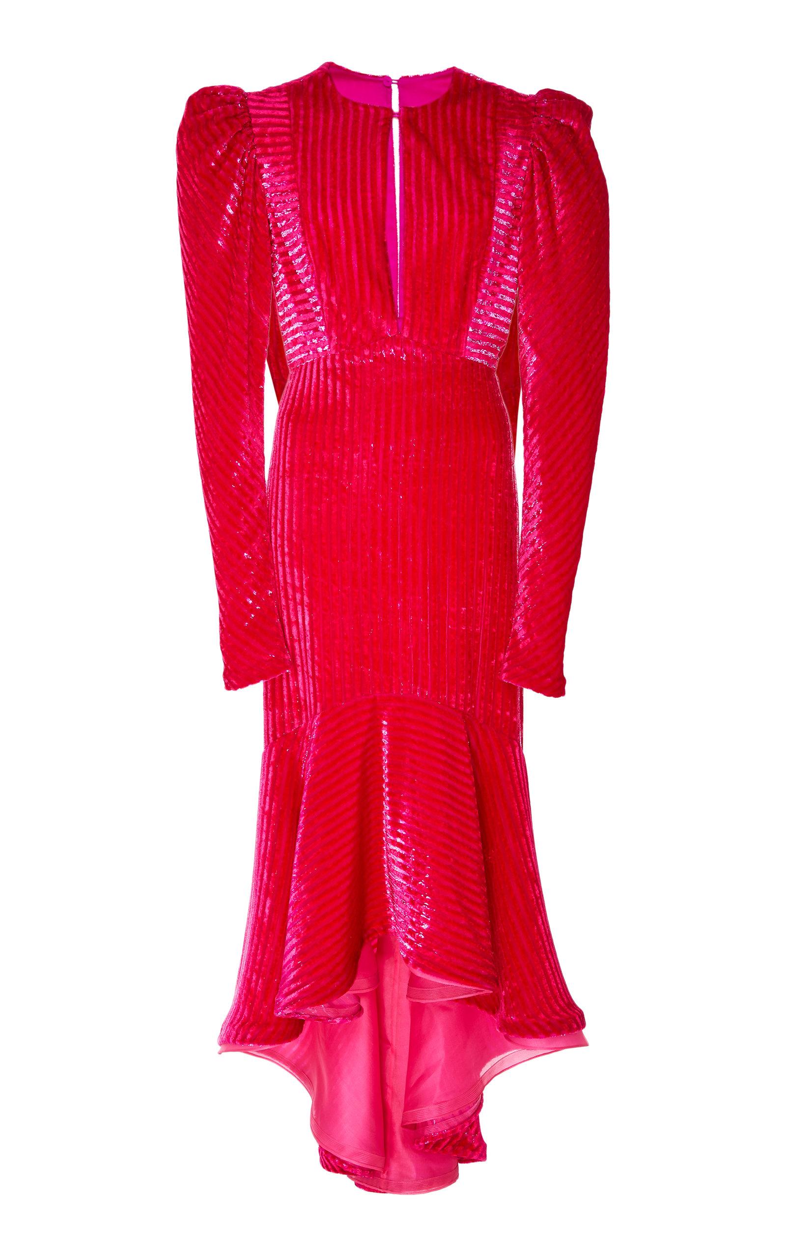VELVET PASIFLORA DRESS