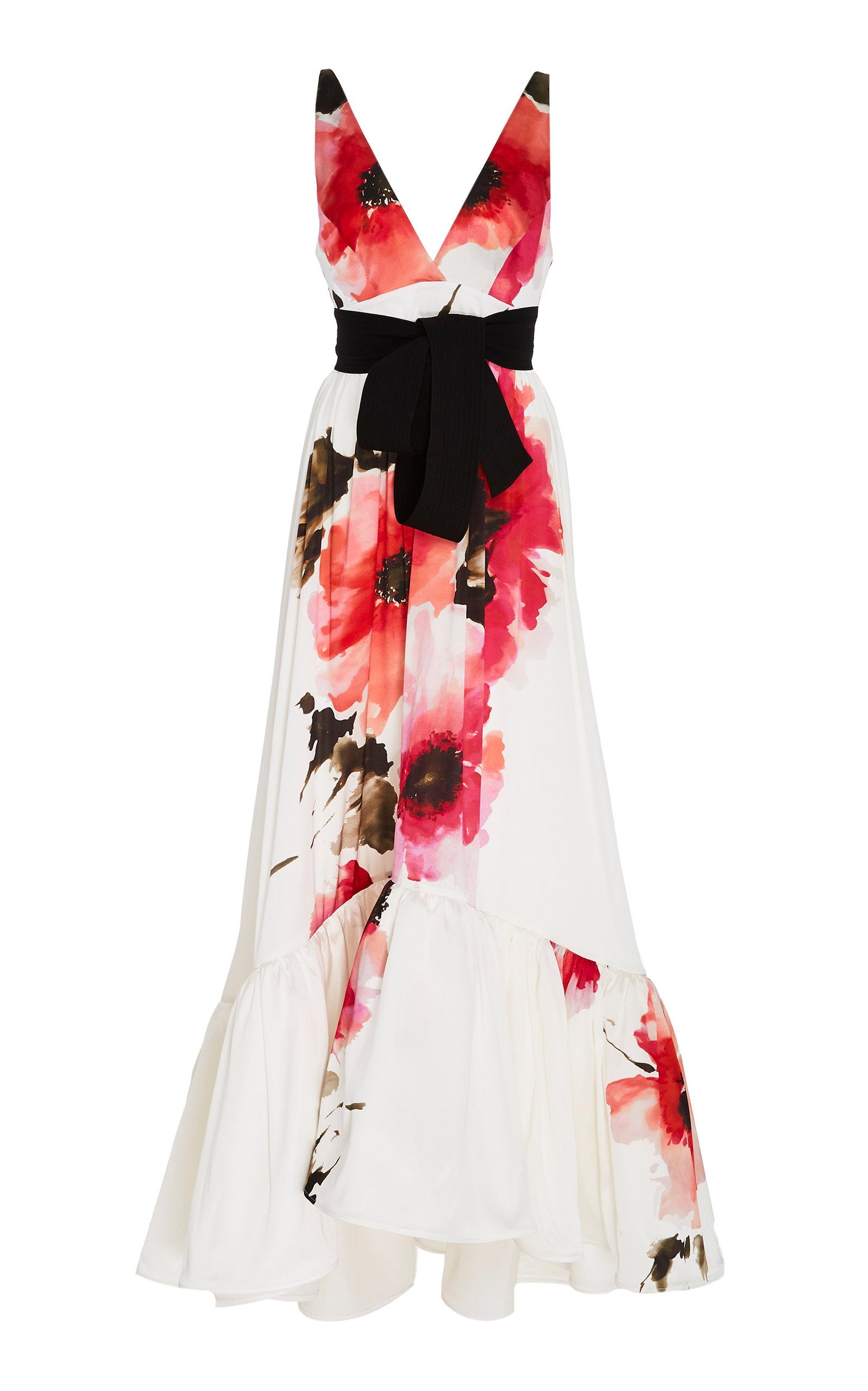SILVIA TCHERASSI   Silvia Tcherassi M'O Exclusive Floral Hellenium Dress   Goxip