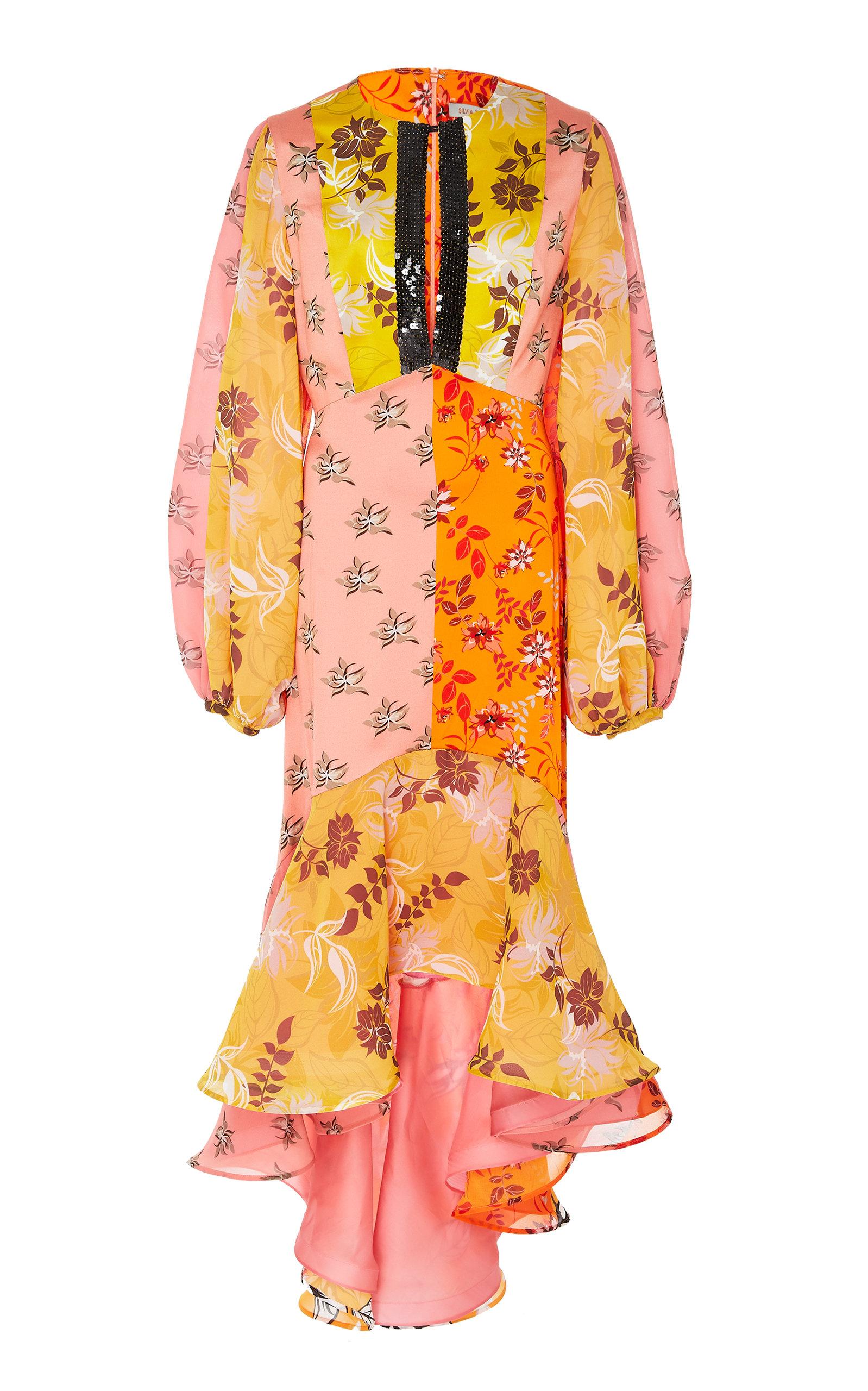 M'O Exclusive Printed Meli Dress in Multi
