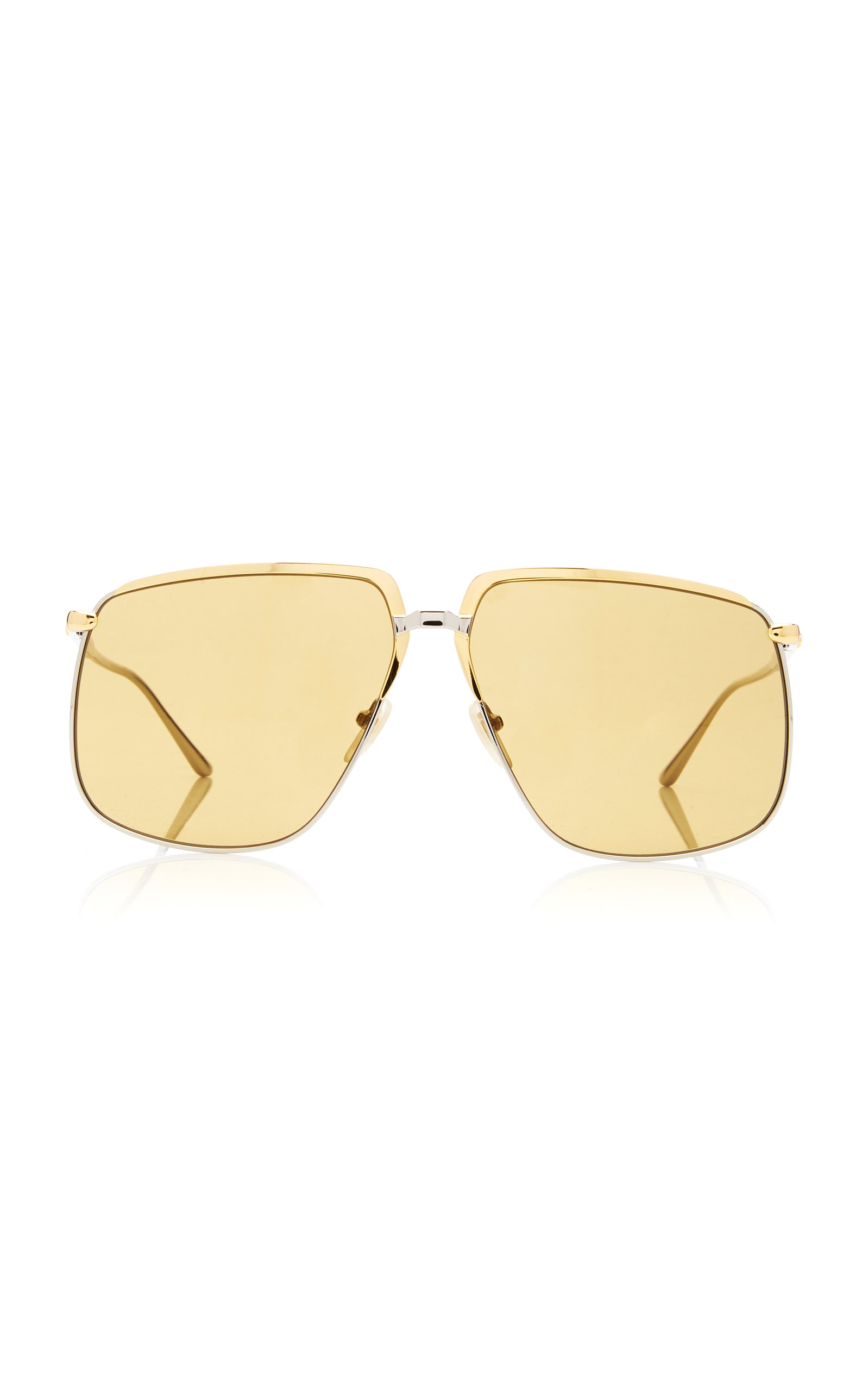04b6e55e00 Square-Frame Metal Sunglasses by Gucci Sunglasses
