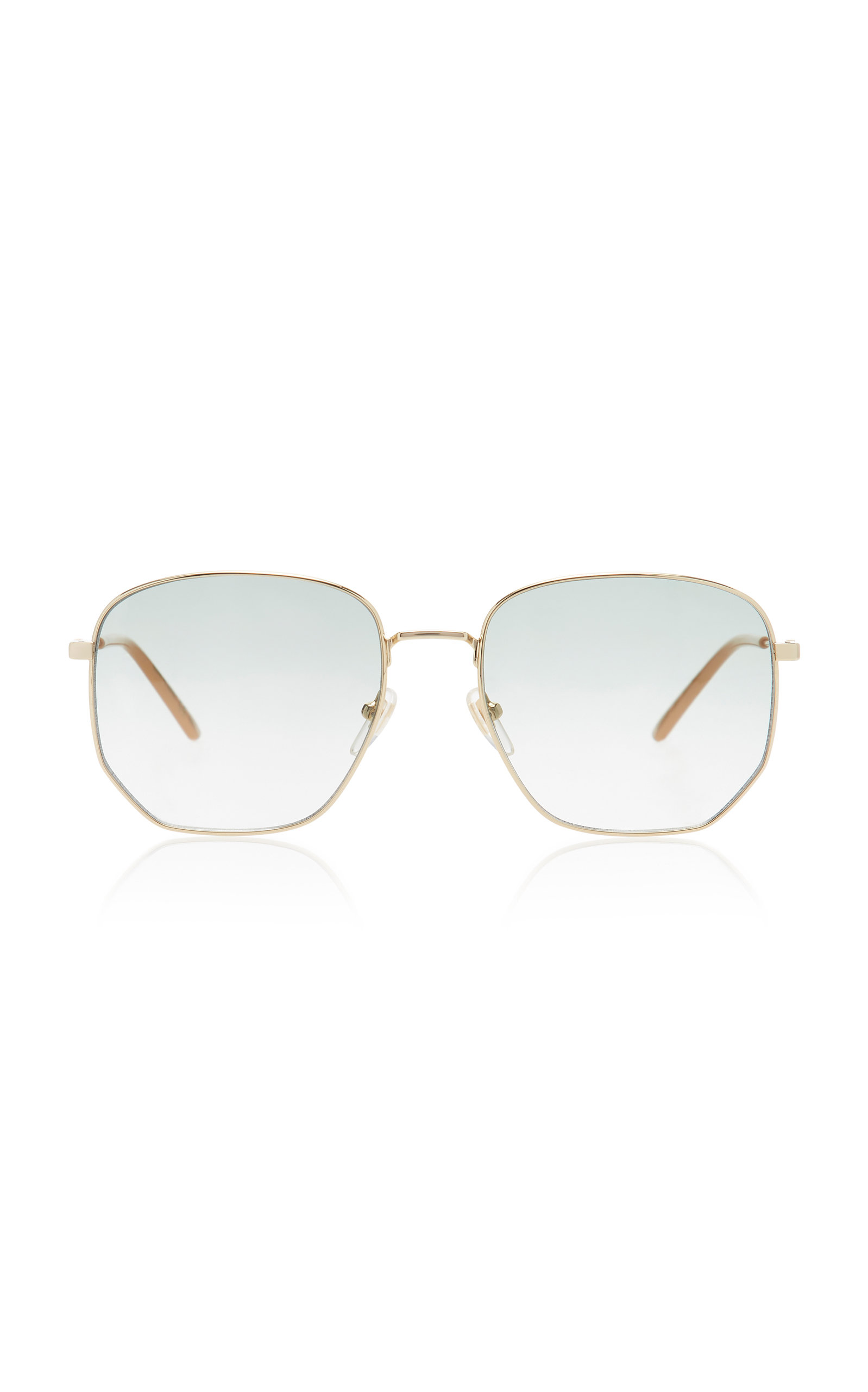 05659bc376c2a Hexagonal Gold-Tone Sunglasses by Gucci Sunglasses