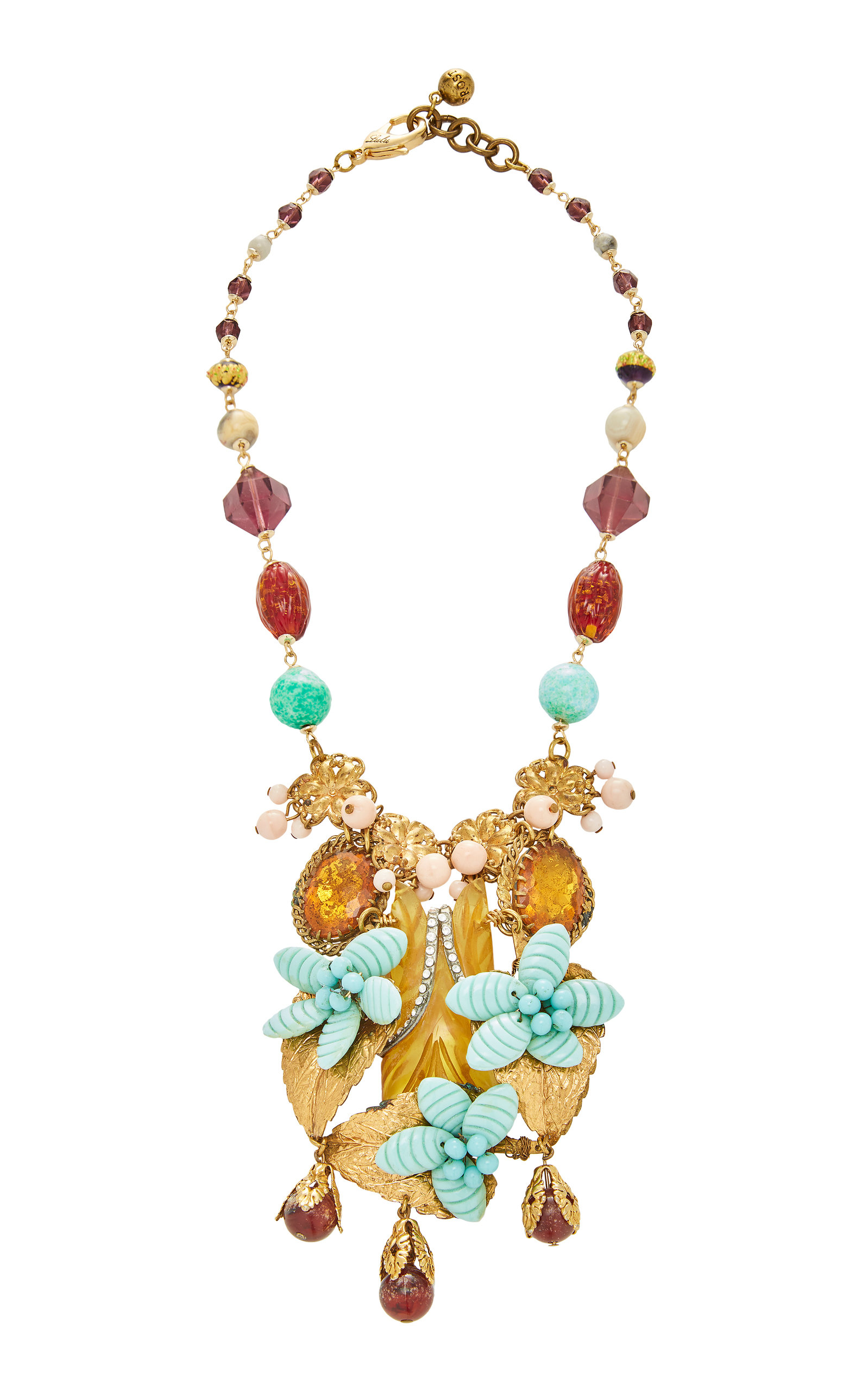 LULU FROST ONE-OF-A-KIND GOLD FOILED GLASS NECKLACE