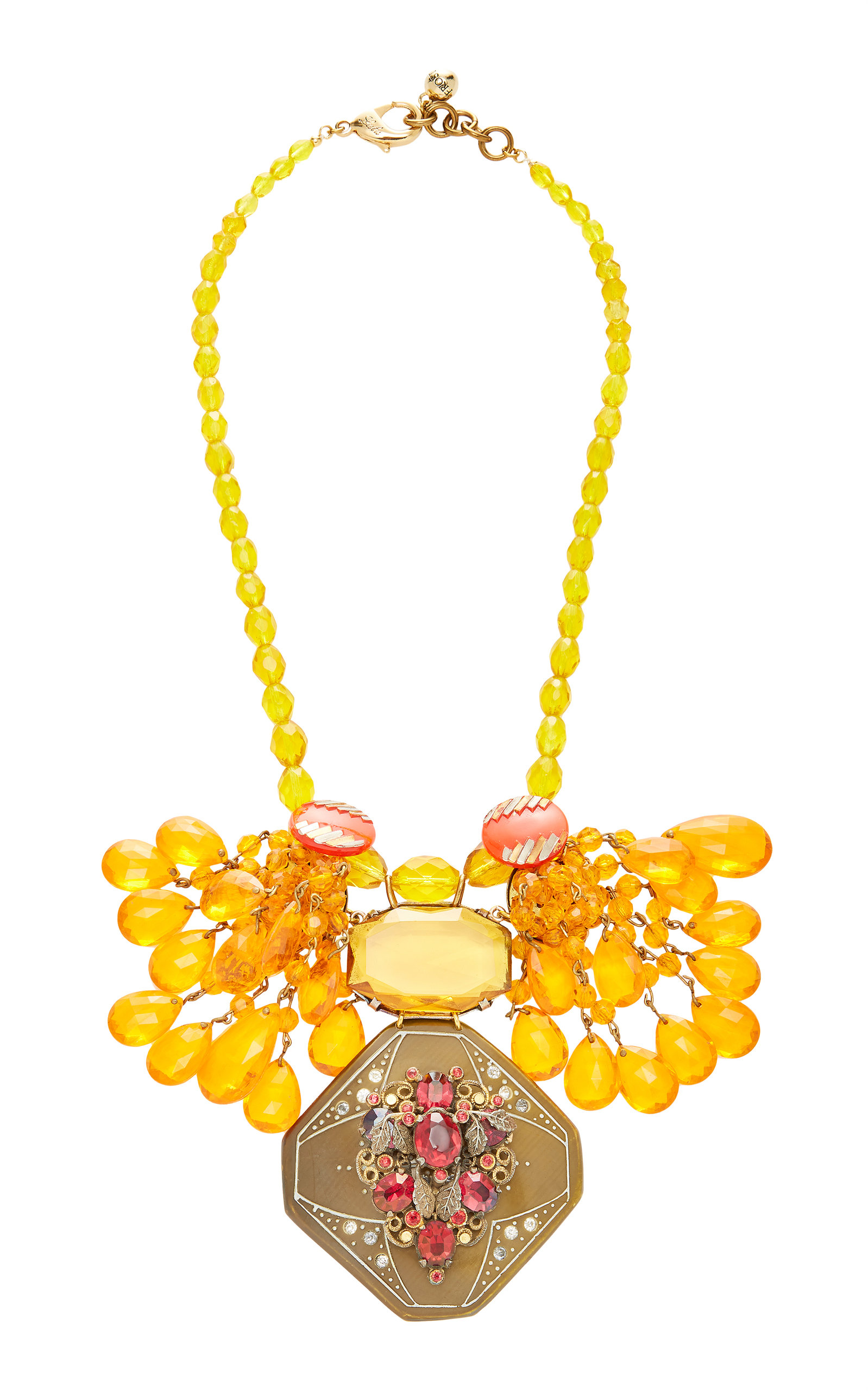 LULU FROST ONE-OF-A-KIND CITRINE GLASS BEAD NECKLACE