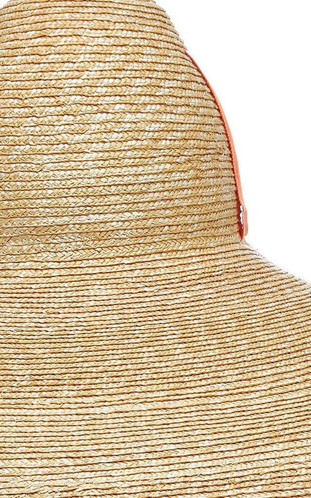 edfcfc3bb6c Lola Hats Sugar Cone Oversized Straw Hat In Orange