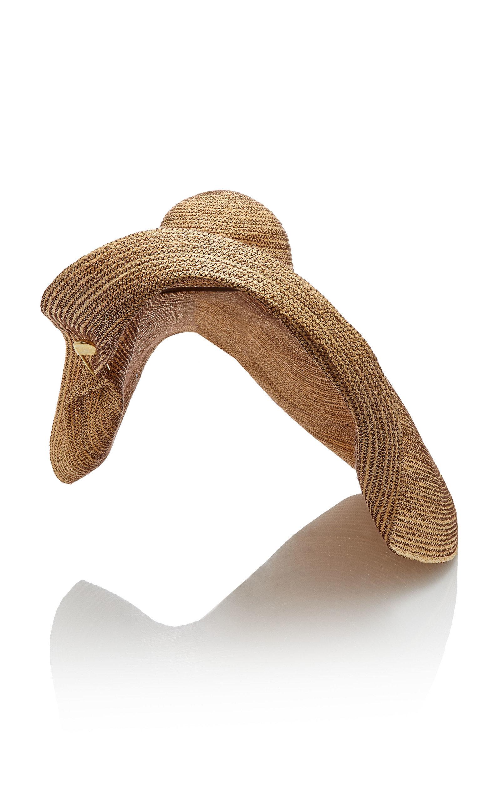Lola Hats GIGA SPINNER SAFETY PIN RAFFIA HAT