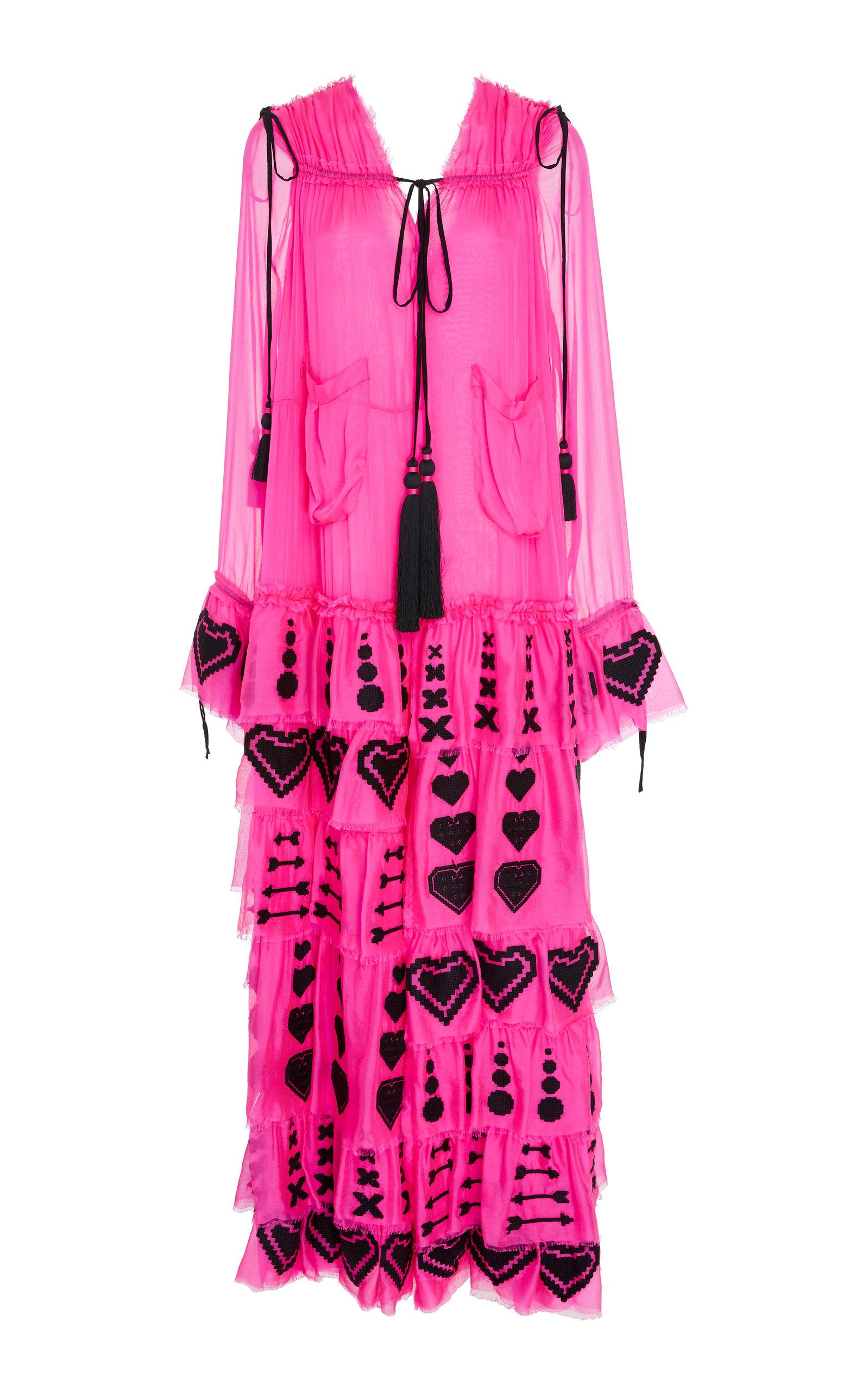 YULIYA MAGDYCH GRACE SILK MAXI DRESS