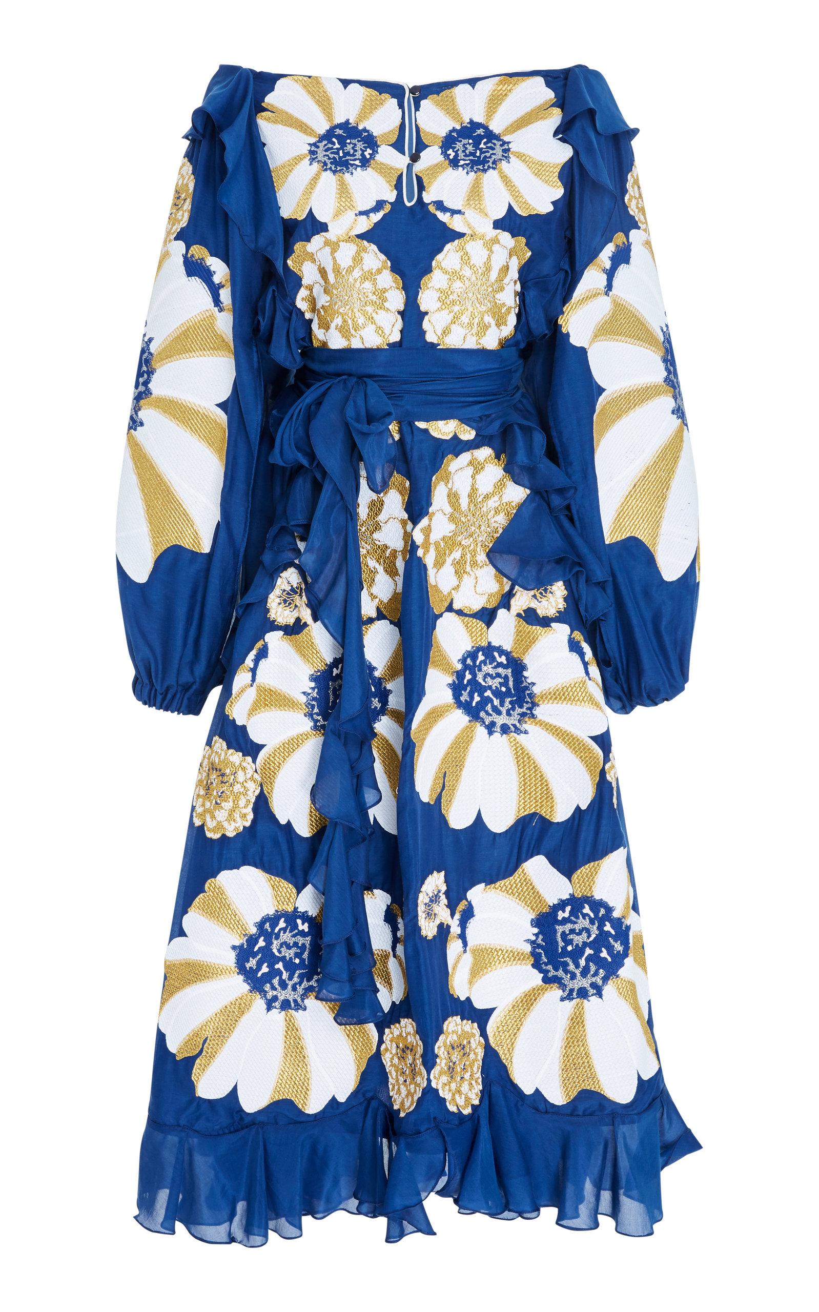 YULIYA MAGDYCH HYPNOZE EMBROIDERED COTTON DRESS