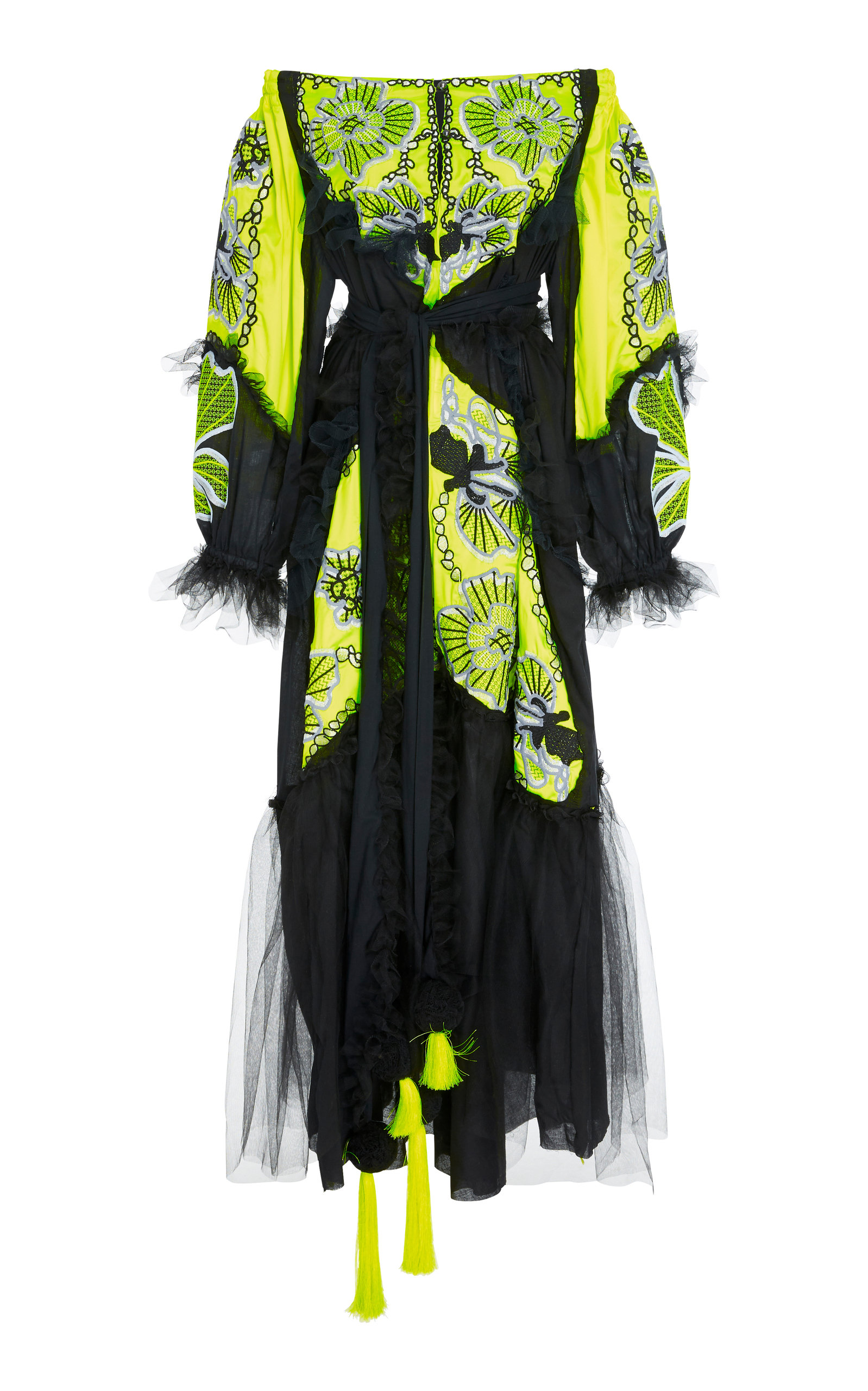 YULIYA MAGDYCH WEB LACE EMBROIDERED SILK AND TULLE DRESS