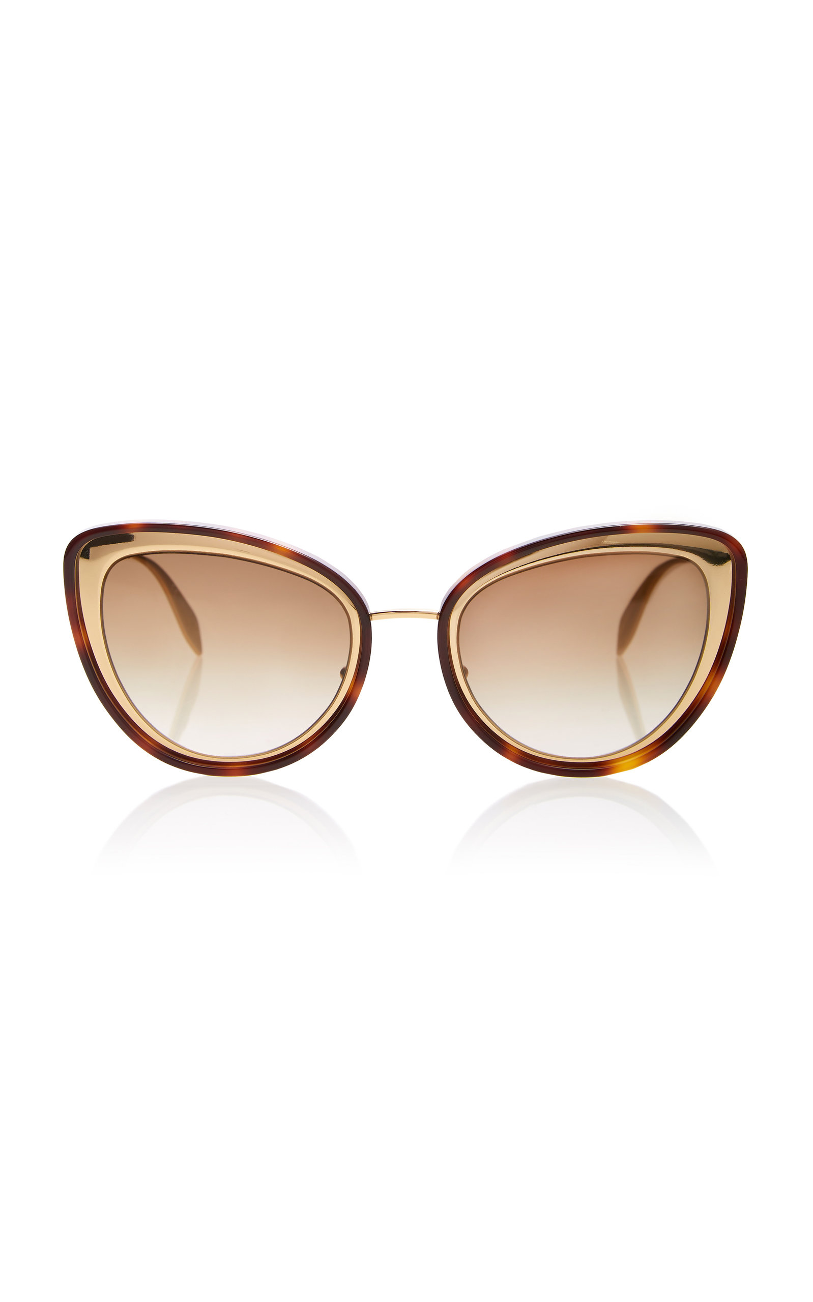 291b666303d12 Tortoises Acetate Cat Eye Sunglasses By Alexander Mcqueen