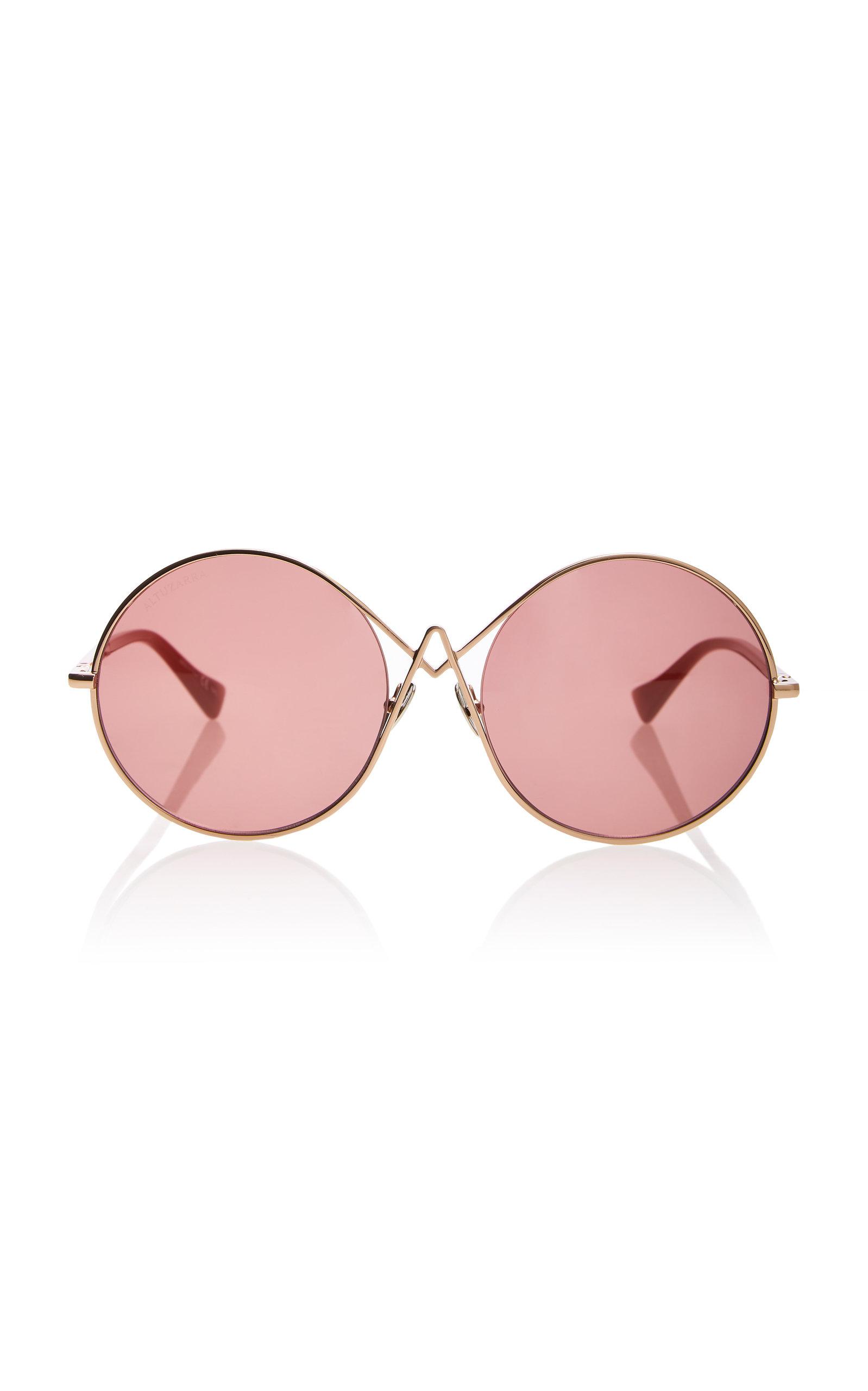 ALTUZARRA SUNGLASSES Oversized Round Sunglasses in Pink