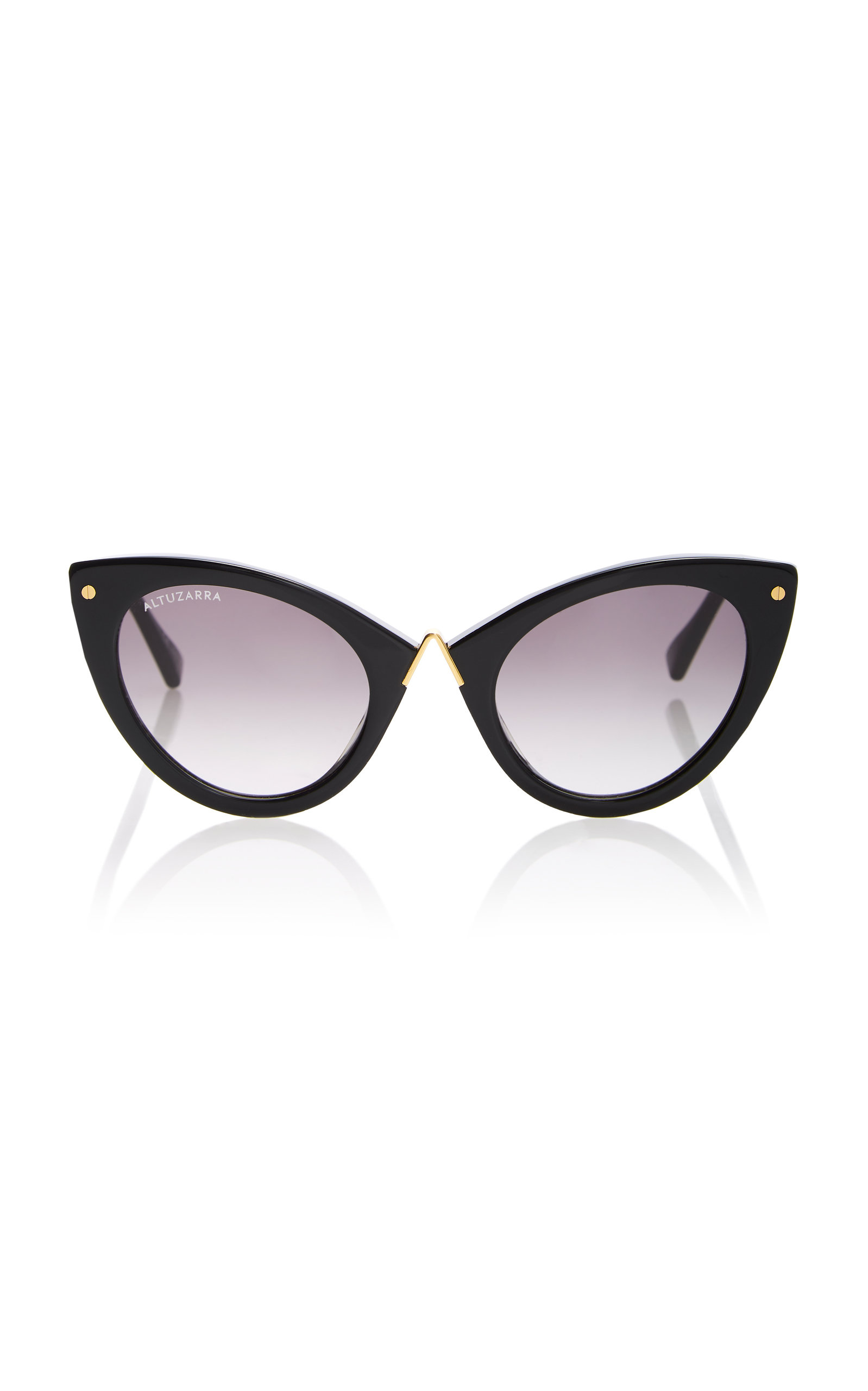 ALTUZARRA SUNGLASSES Acetate Cat-Eye Sunglasses in Black