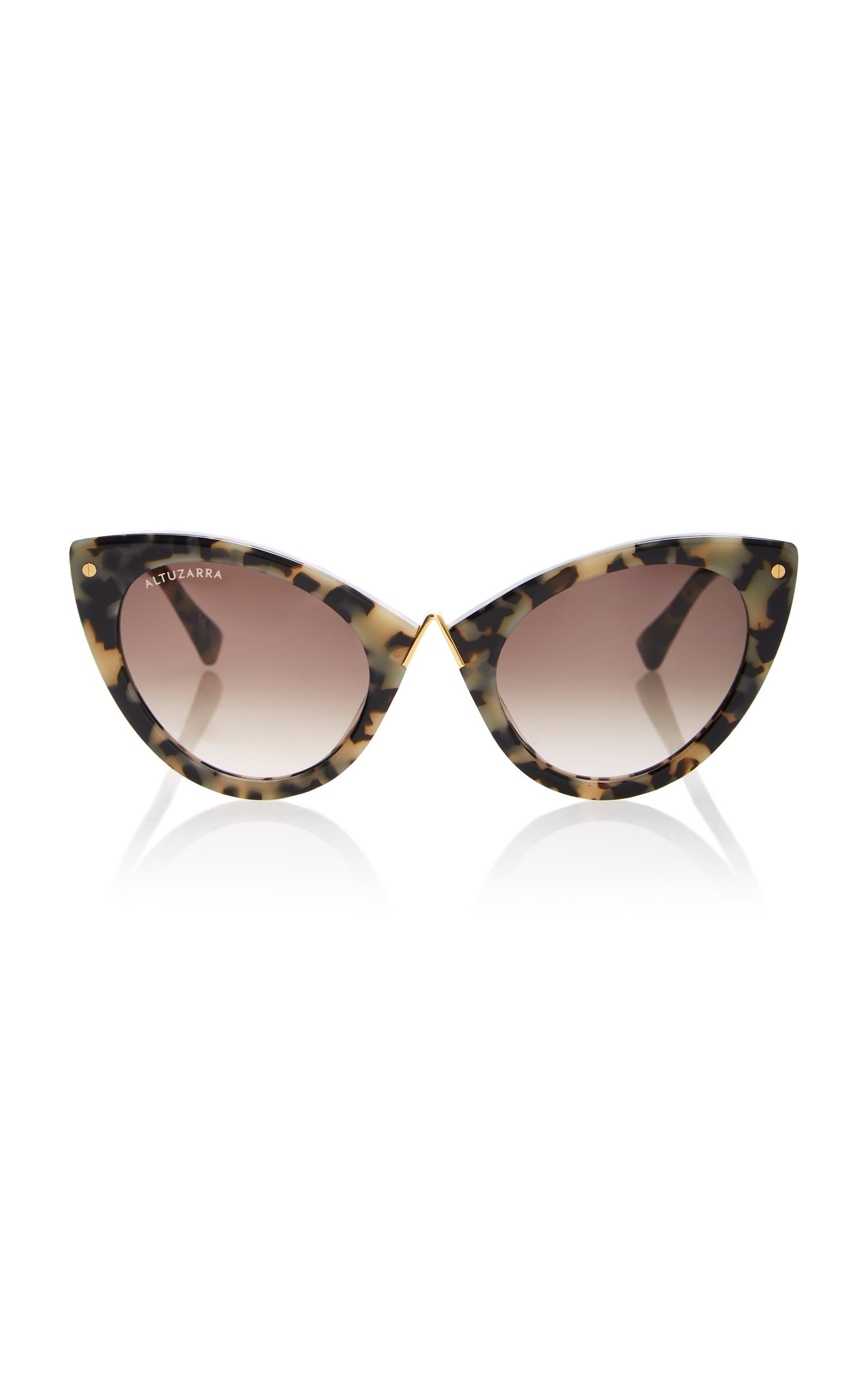 ALTUZARRA SUNGLASSES Tortoiseshell Acetate Cat-Eye Sunglasses in Black