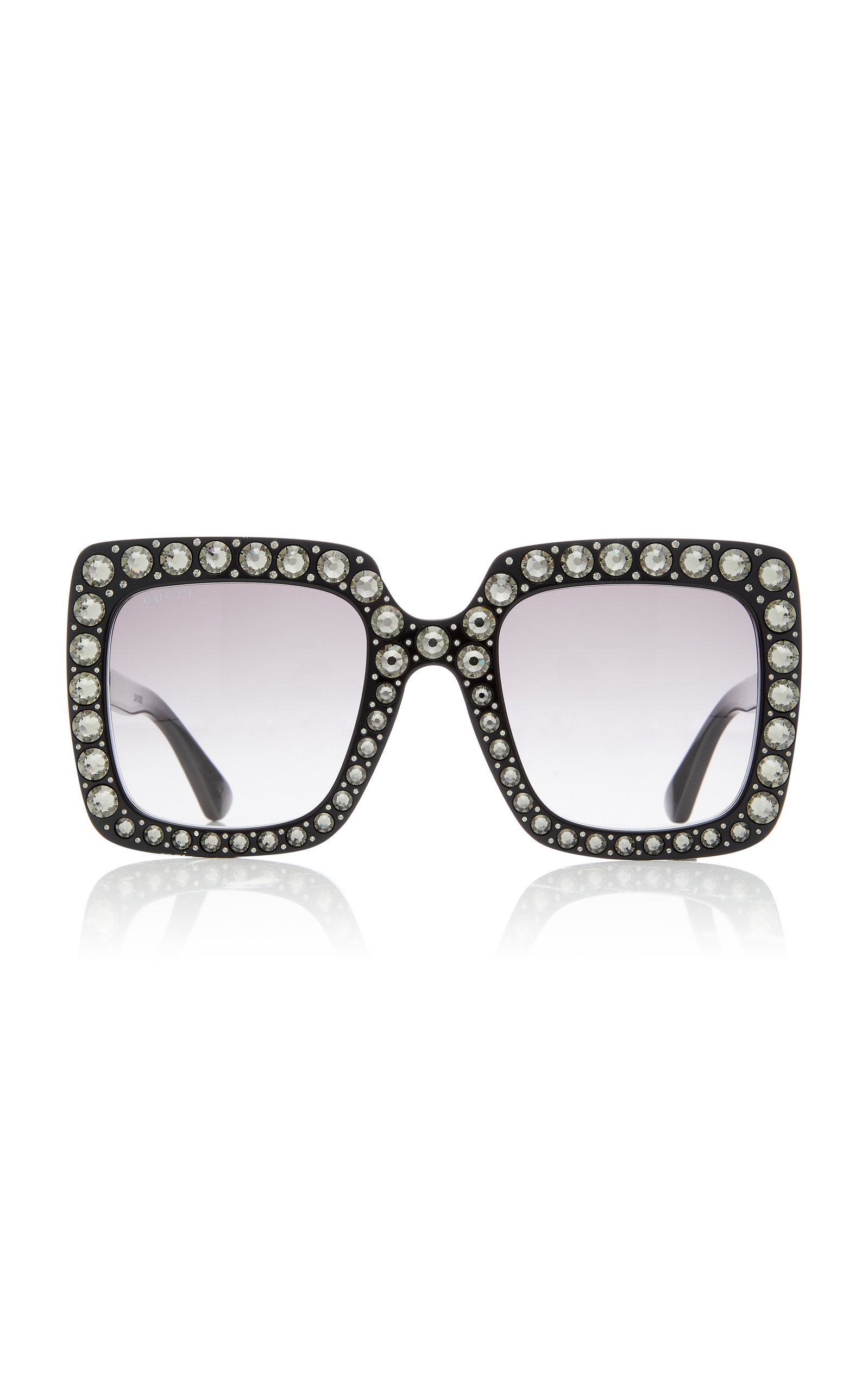 cf7d2399ff Crystal-Embellished Square-Frame Sunglasses by Gucci