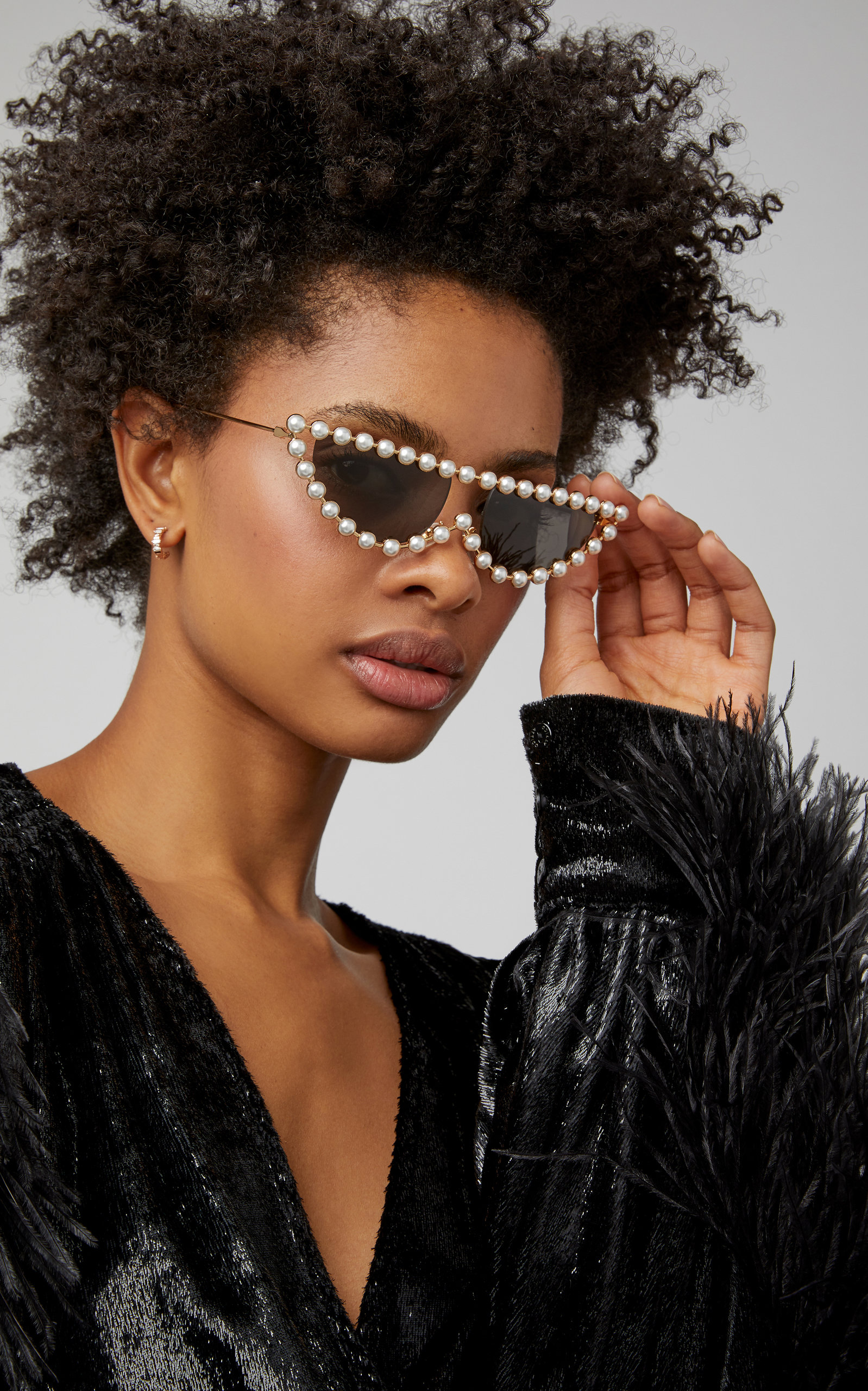 c266bcbd56 Faux Pearl-Embellished Cat-Eye Sunglasses by Gucci Sunglasses