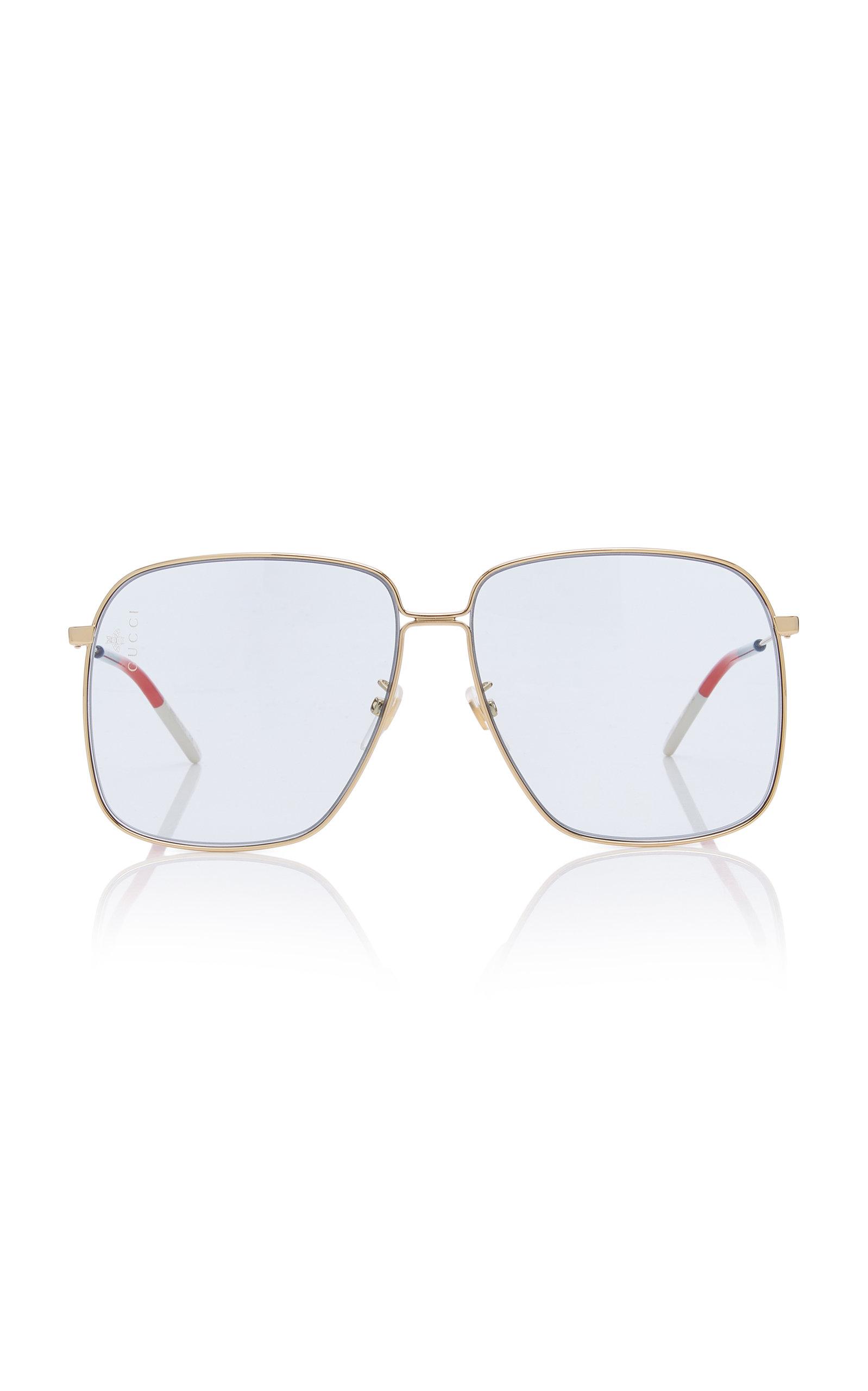2c3545a8b0f6 Glasant Oversized Metal Square-Frame Sunglasses by Gucci | Moda Operandi