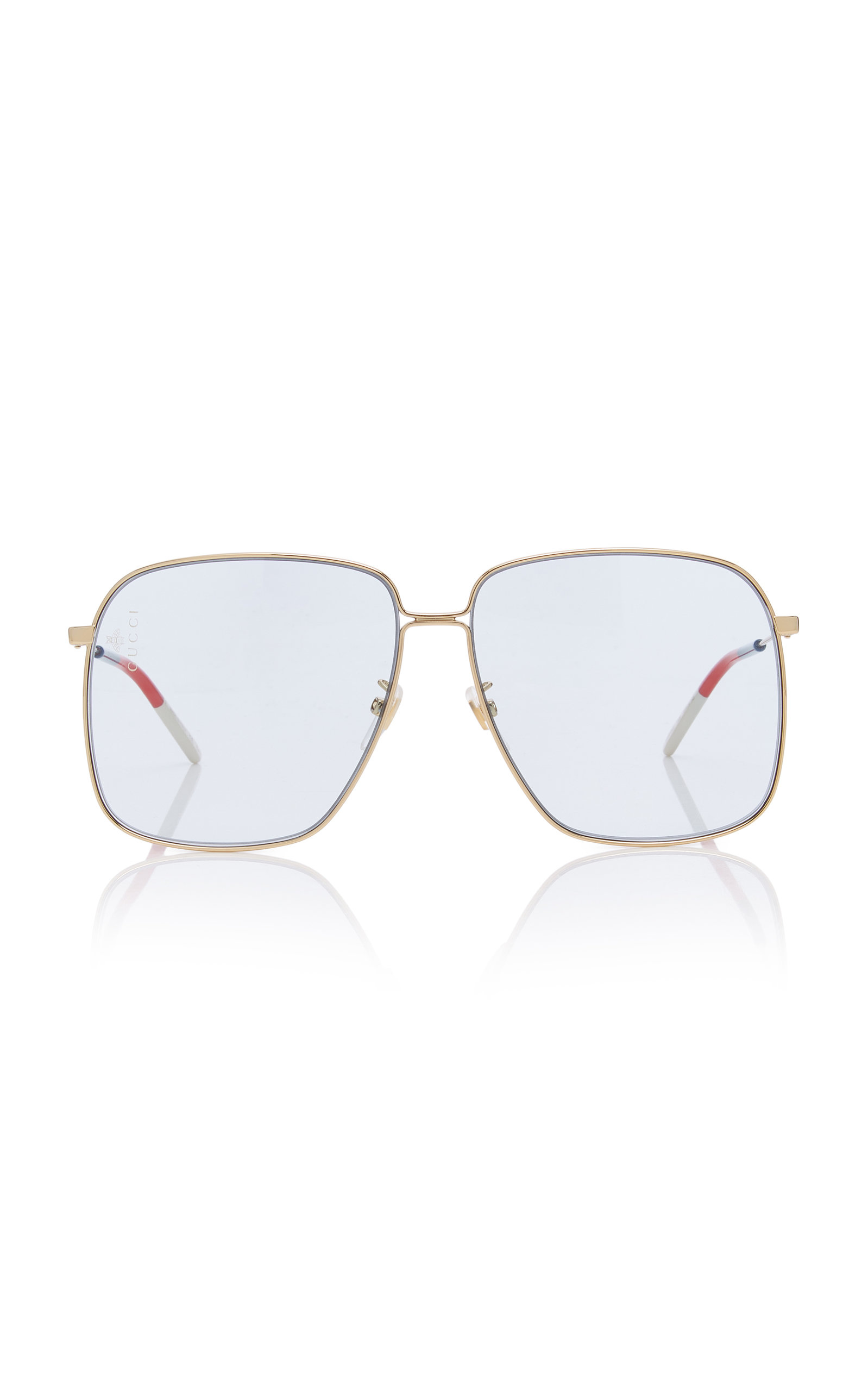 0641026fb1 Glasant Oversized Metal Square-Frame Sunglasses by Gucci Sunglasses ...