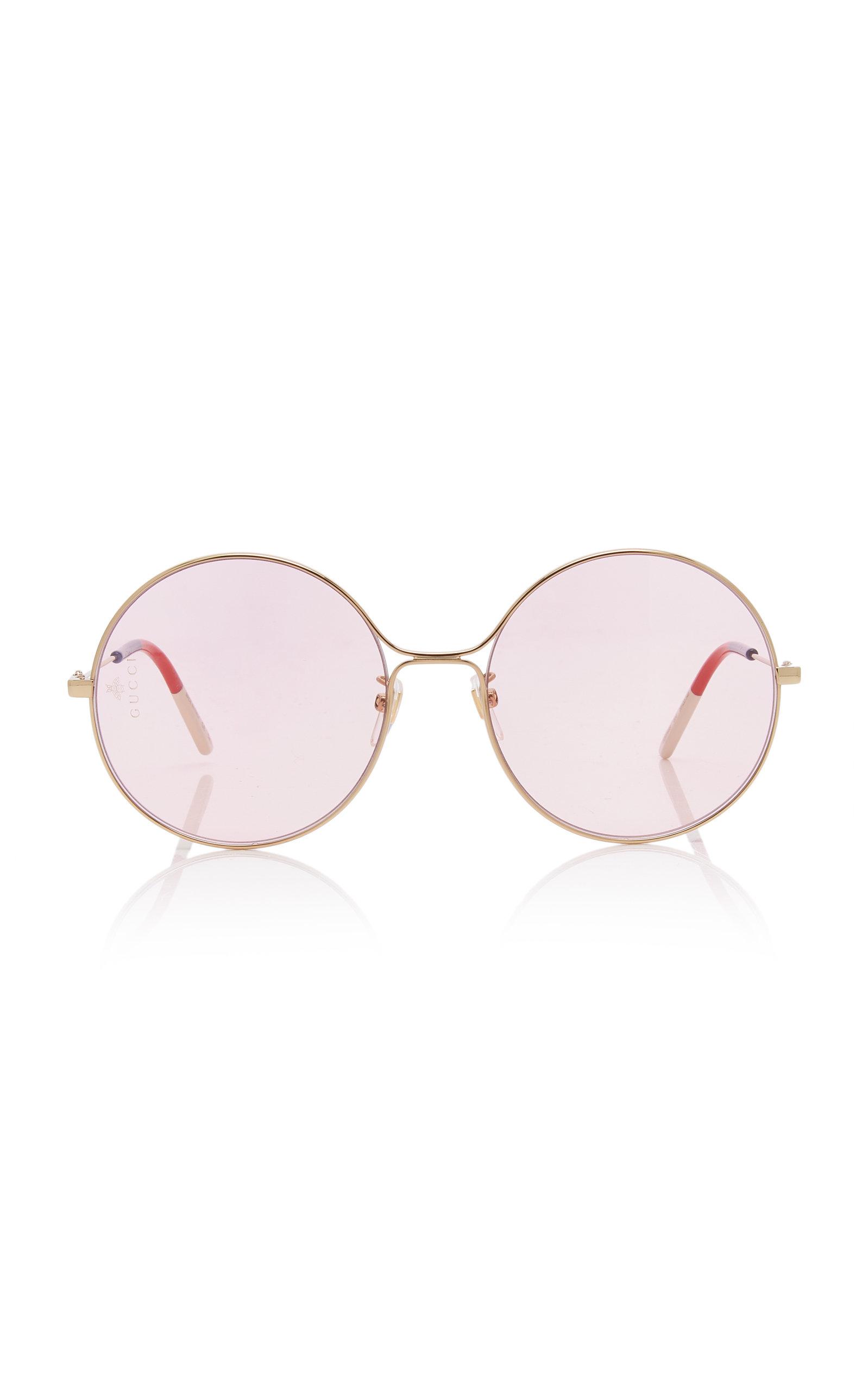 35f51357c Gucci SunglassesGlasant Oversized Metal Round Sunglasses. CLOSE. Loading