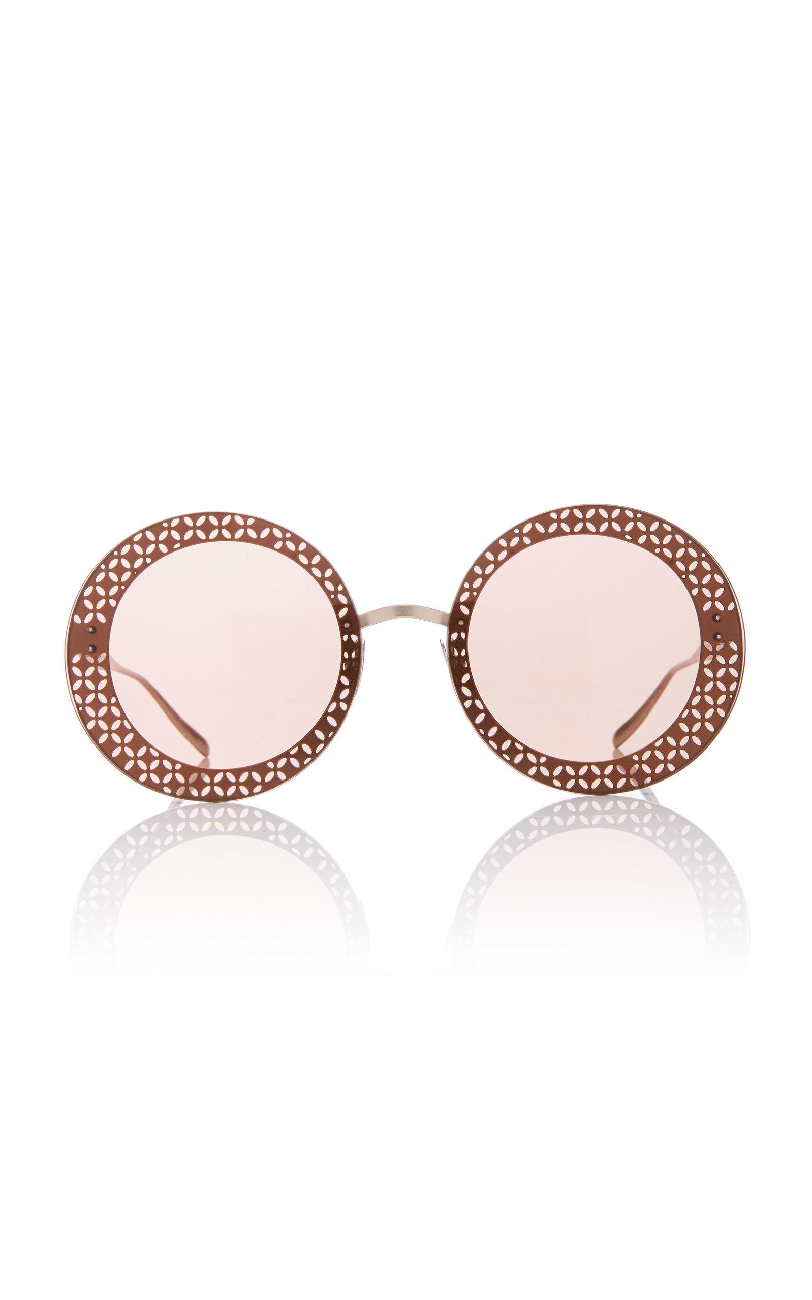 ALAIA SUNGLASSES Le Petale Sunglasses in Gold