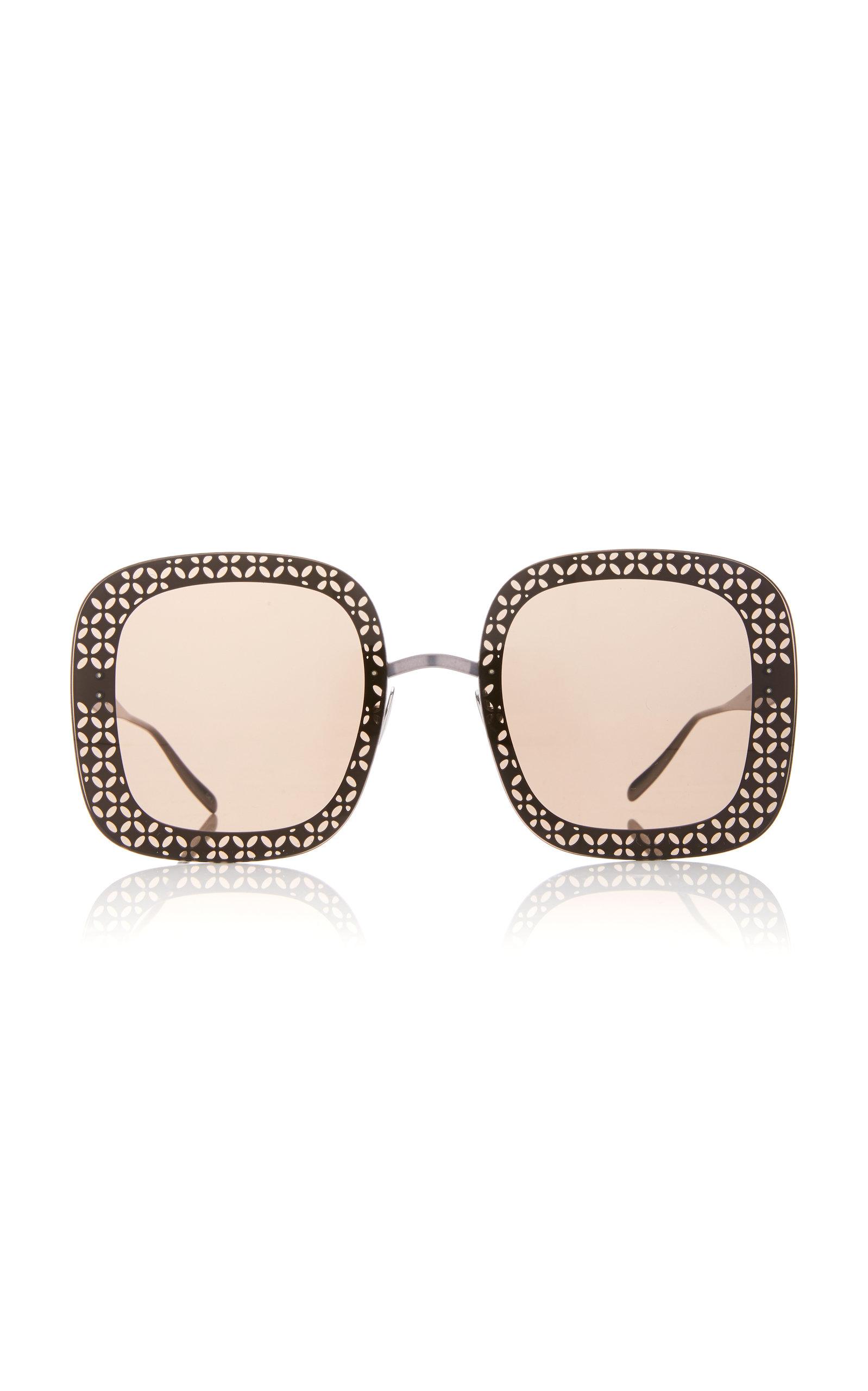ALAIA SUNGLASSES Le Petale Sunglasses in Brown