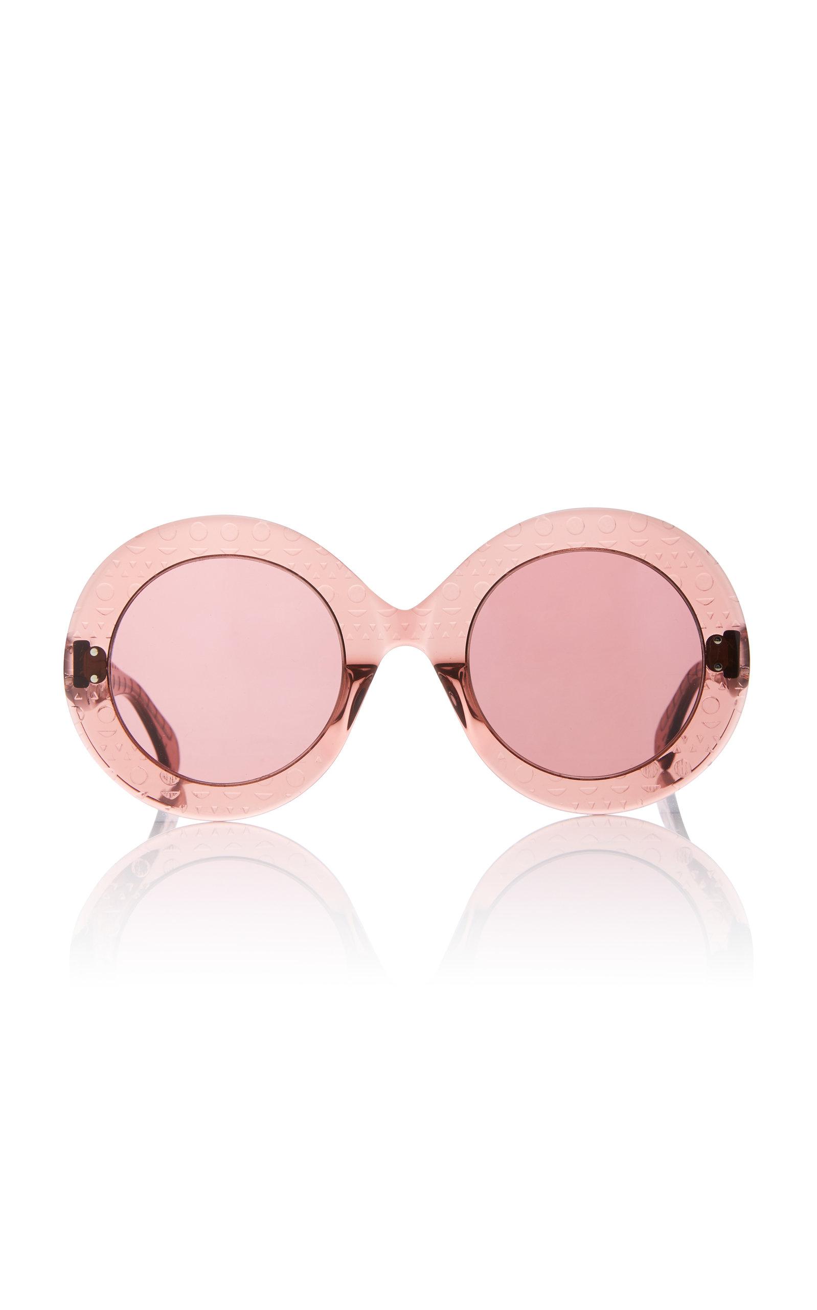 ALAIA SUNGLASSES Le Round Clou Sunglasses in Pink