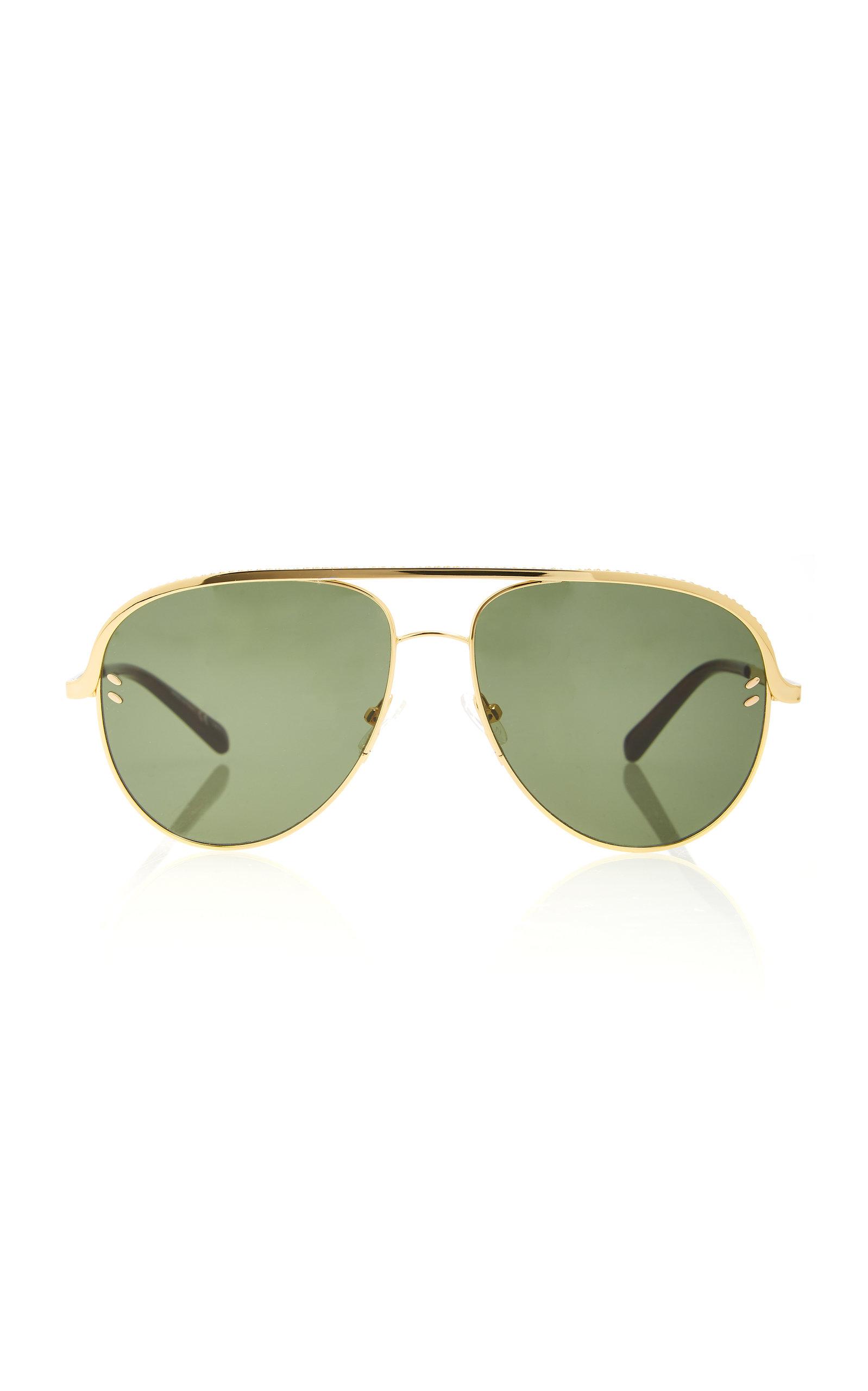 46c46c83b20b Stella McCartney SunglassesFalabella Gold-Tone Aviator Sunglasses. CLOSE.  Loading
