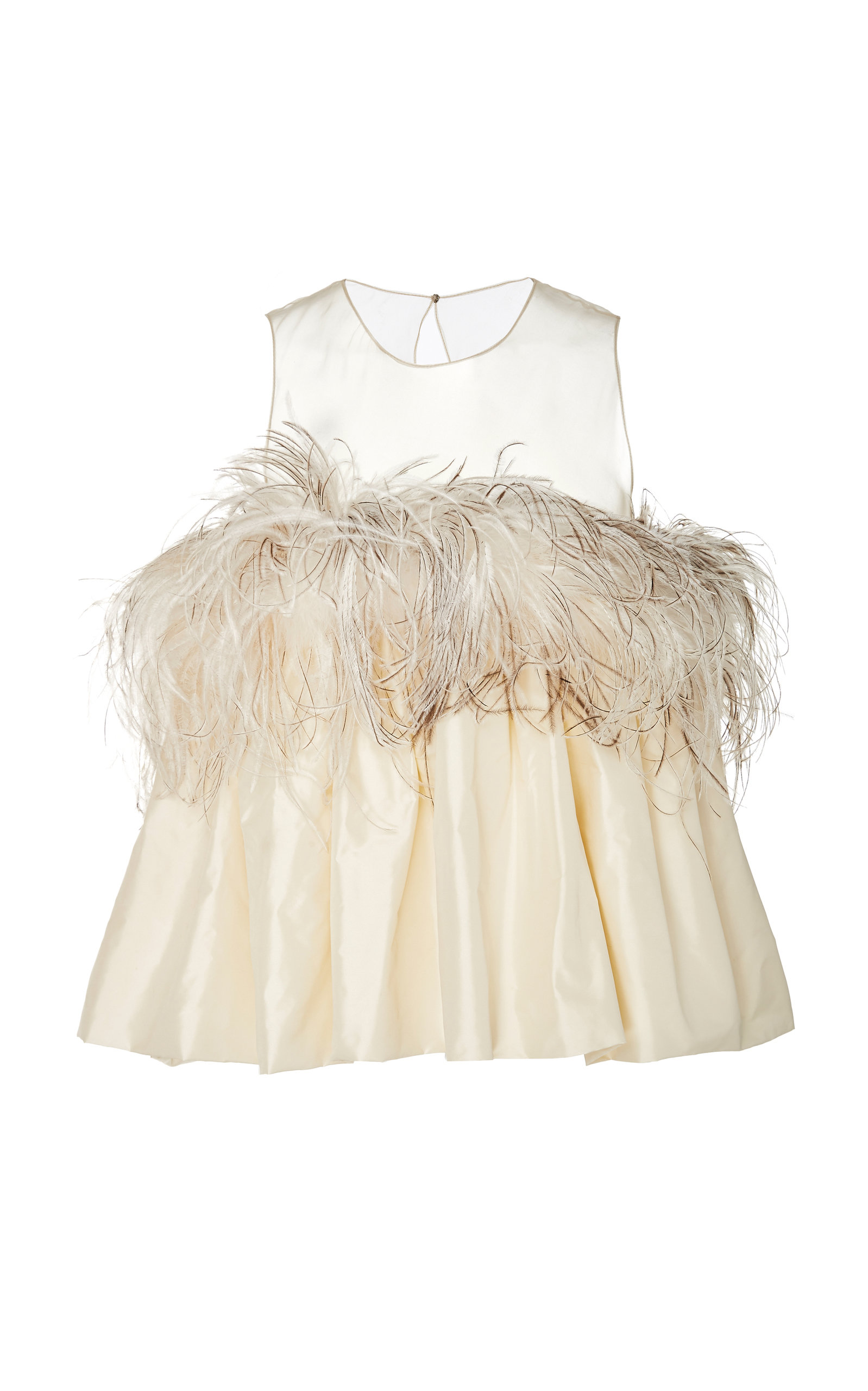 ALISON BRETT BUBBLE TOP WITH ORGANZA AND OSTRICH FEATHERS