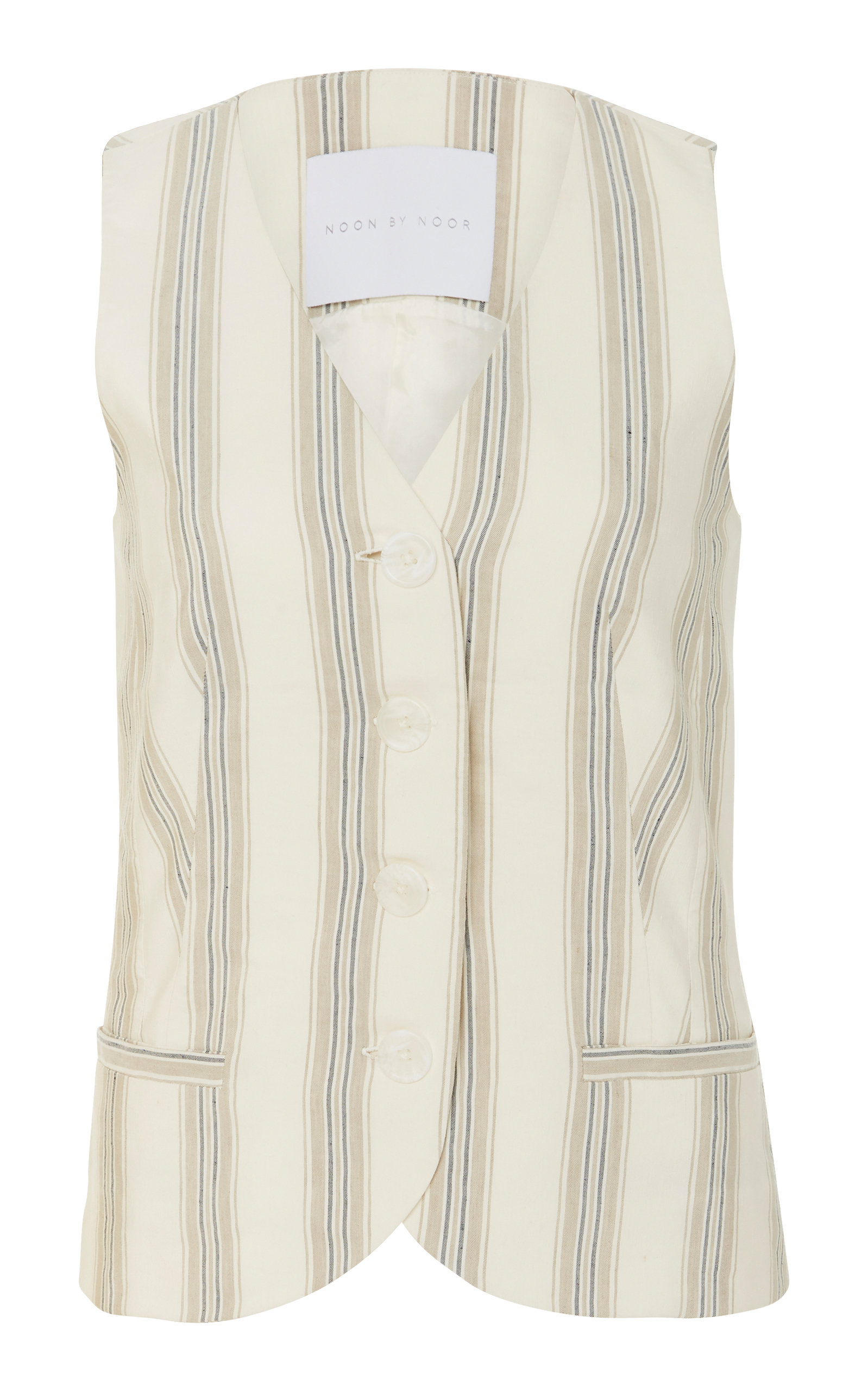 NOON BY NOOR ANDY SILK BLEND STRIPED VEST