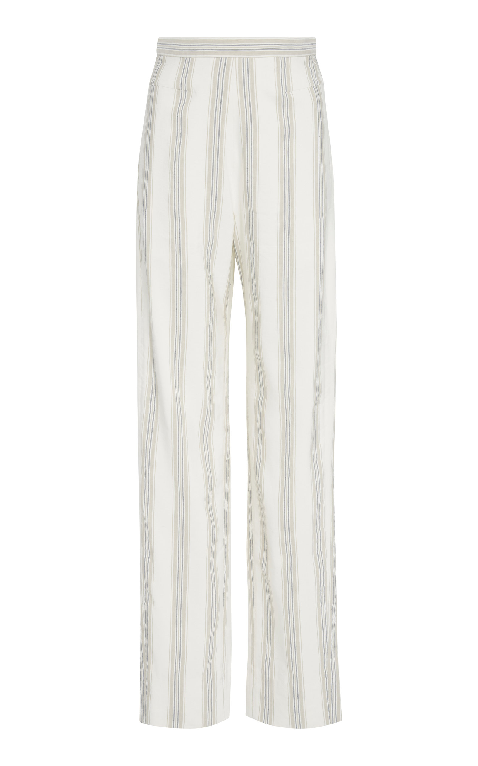 NOON BY NOOR RICKIE SILK BLEND STRIPED PANT