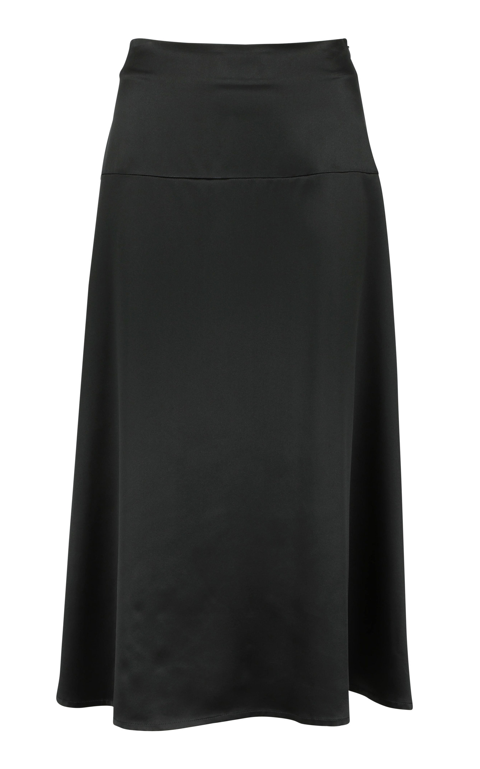 LA COLLECTION ALARA SILK MIDI SKIRT