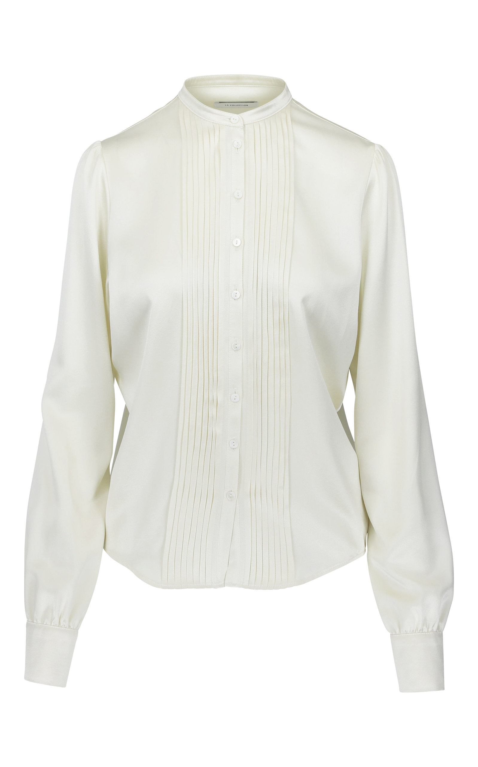 LA COLLECTION VICTORIA SILK LONG SLEEVE TOP