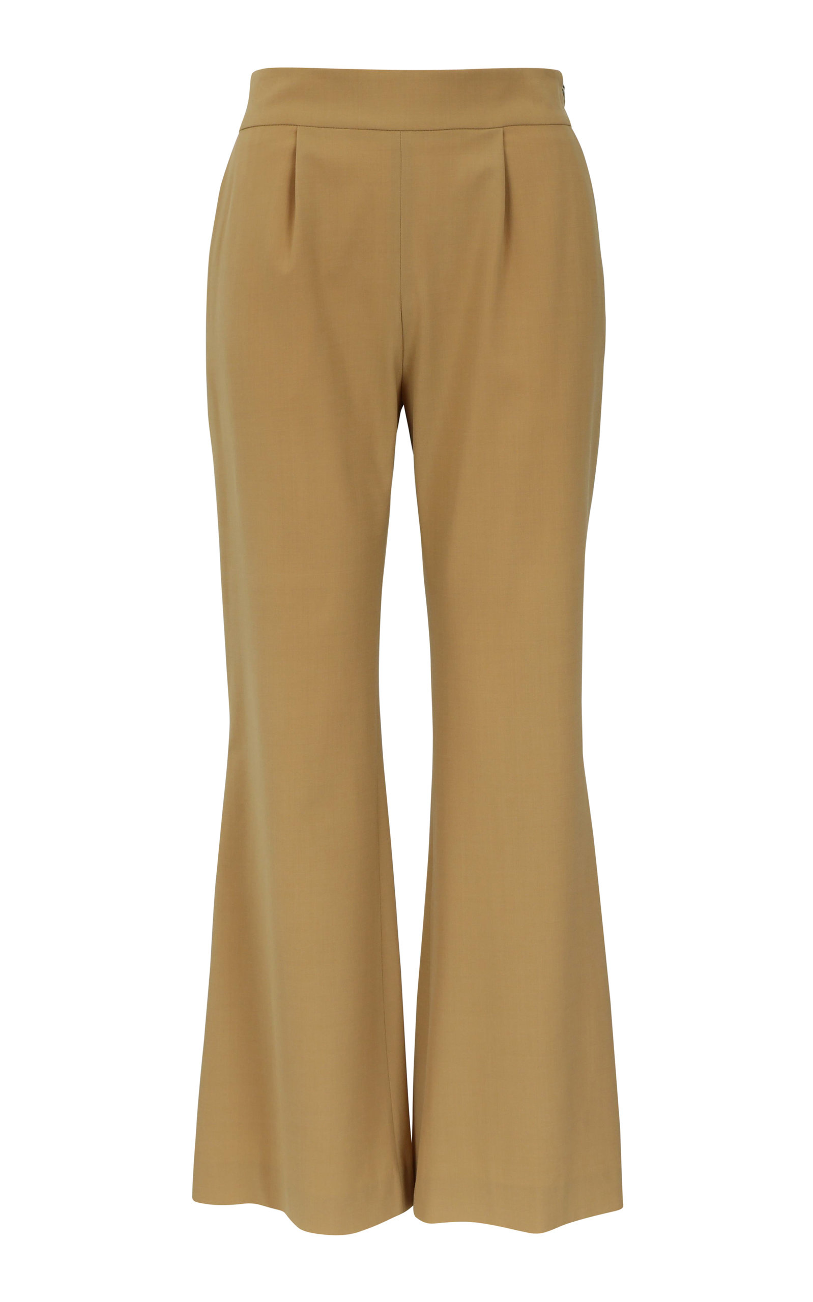 LA COLLECTION ELVIRA WOOL BLEND MID-RISE PANTS