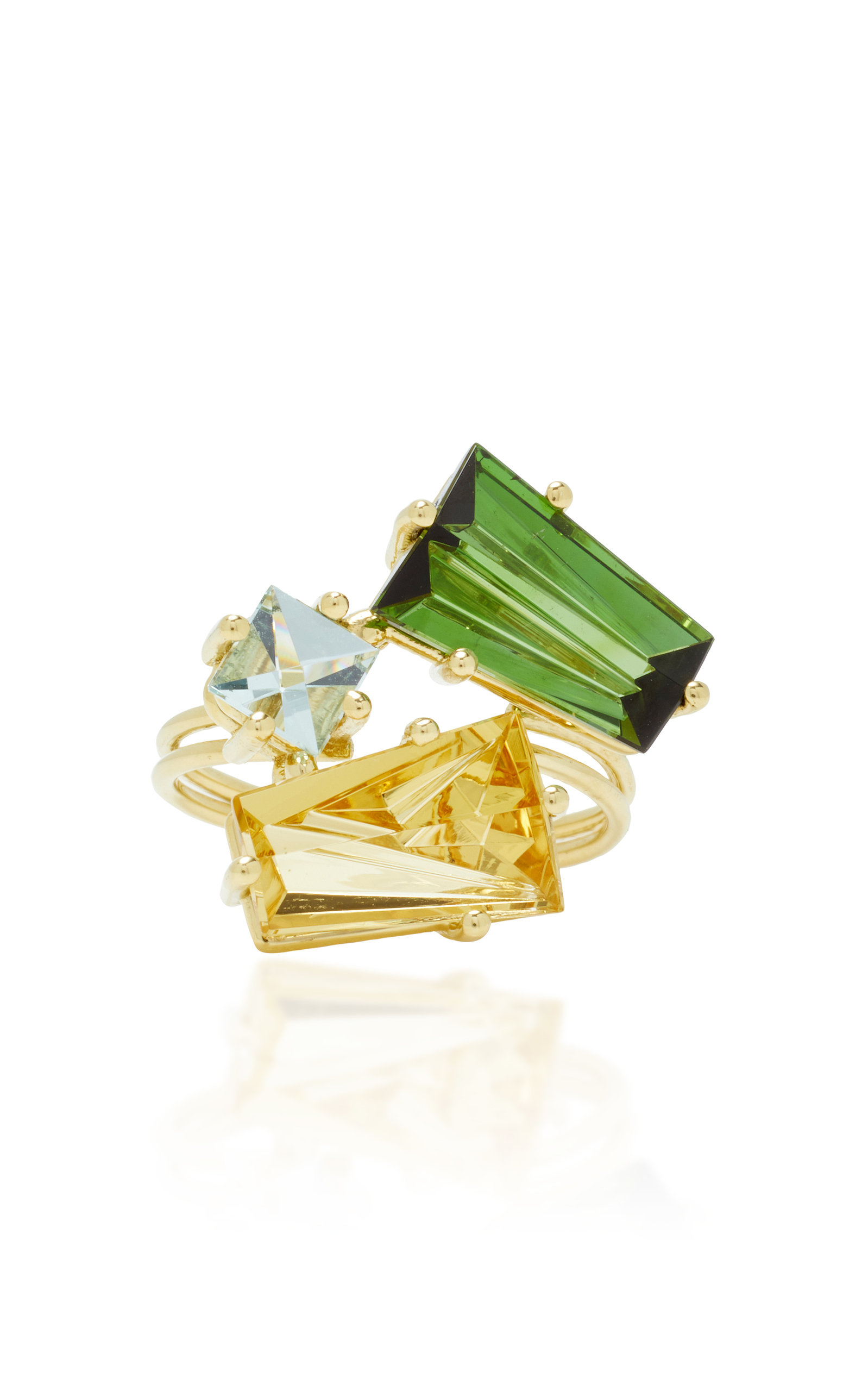 MISUI ONE-OF-A-KIND KLAR TOURMALINE AND BERYL RING