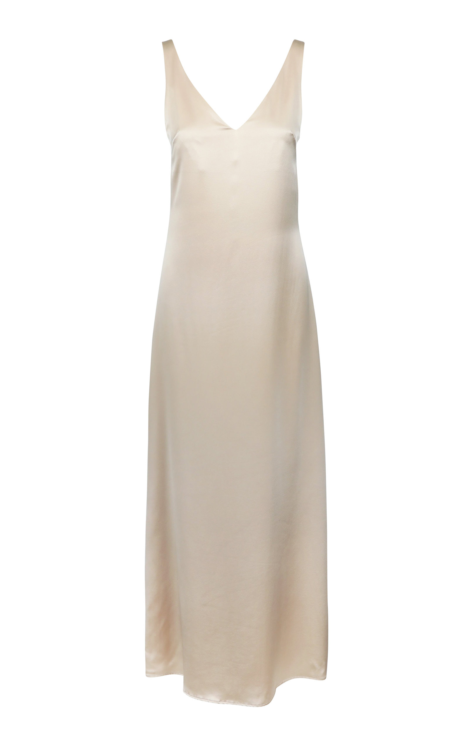 GRACE SILK SLEEVELESS MAXI DRESS