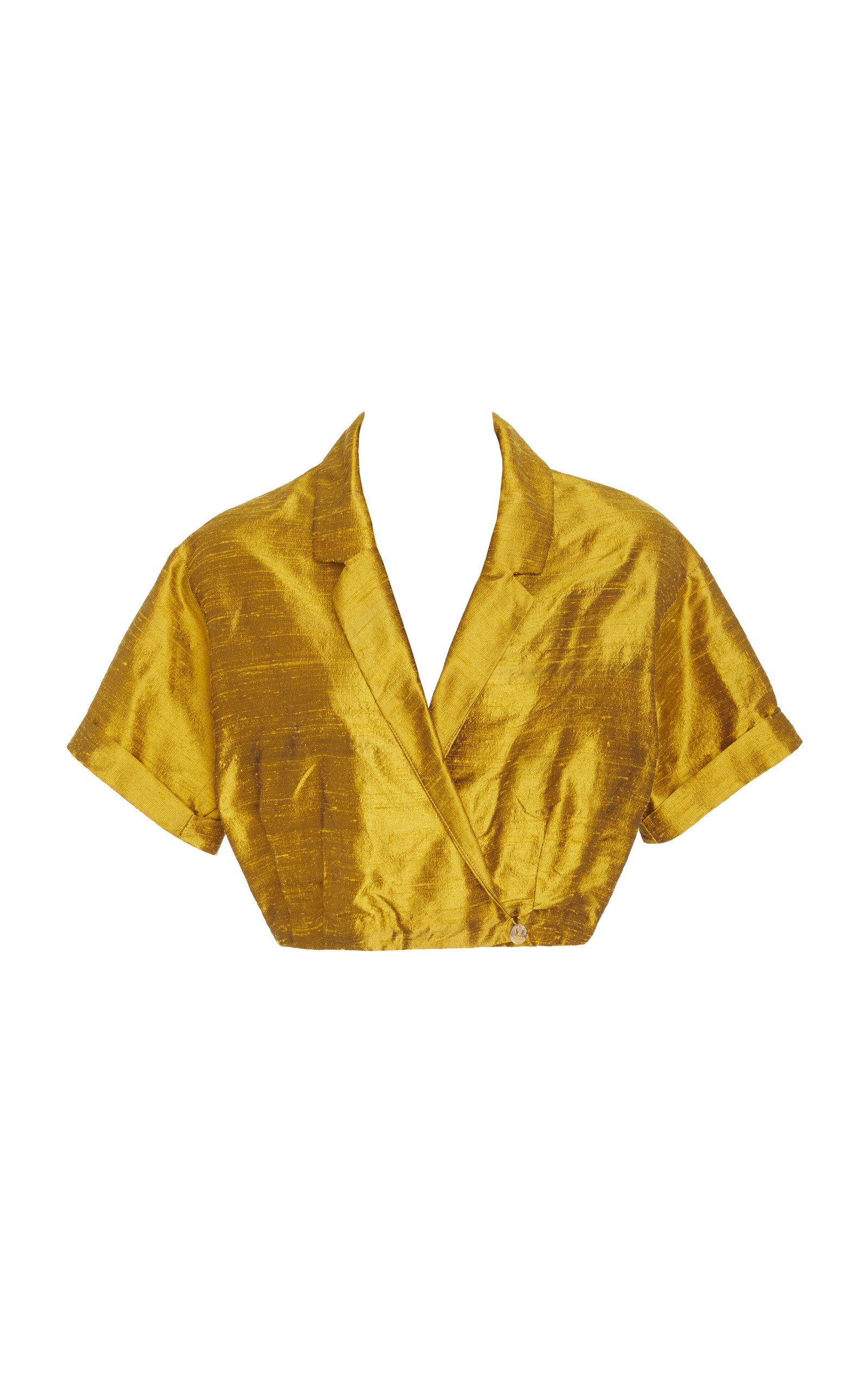 CHRISTINE ALCALAY NOTCHED LAPEL SILK TOP