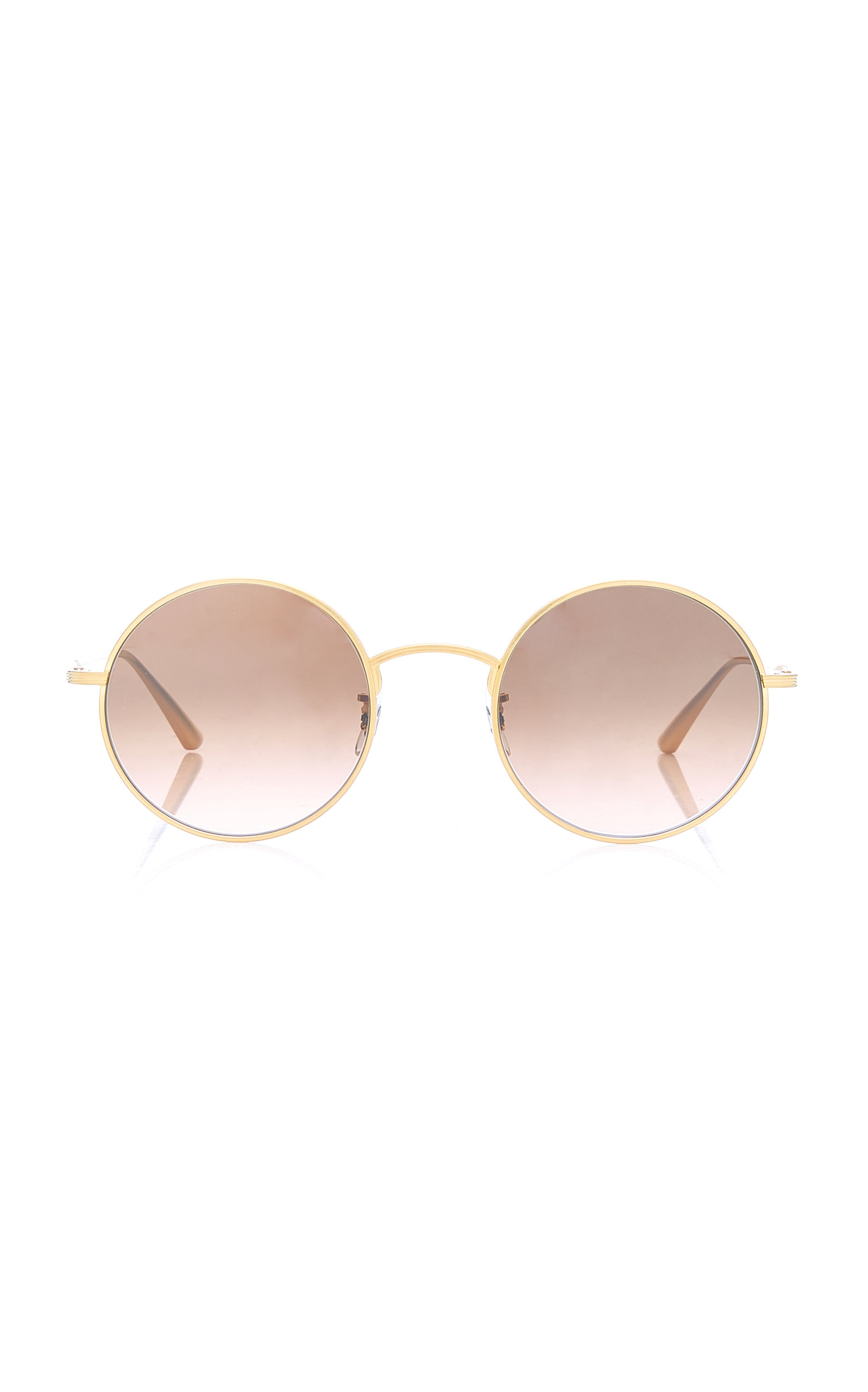 13d3bc88f3f Oliver Peoples THE ROW After Midnight Round Metal Sunglasses ...