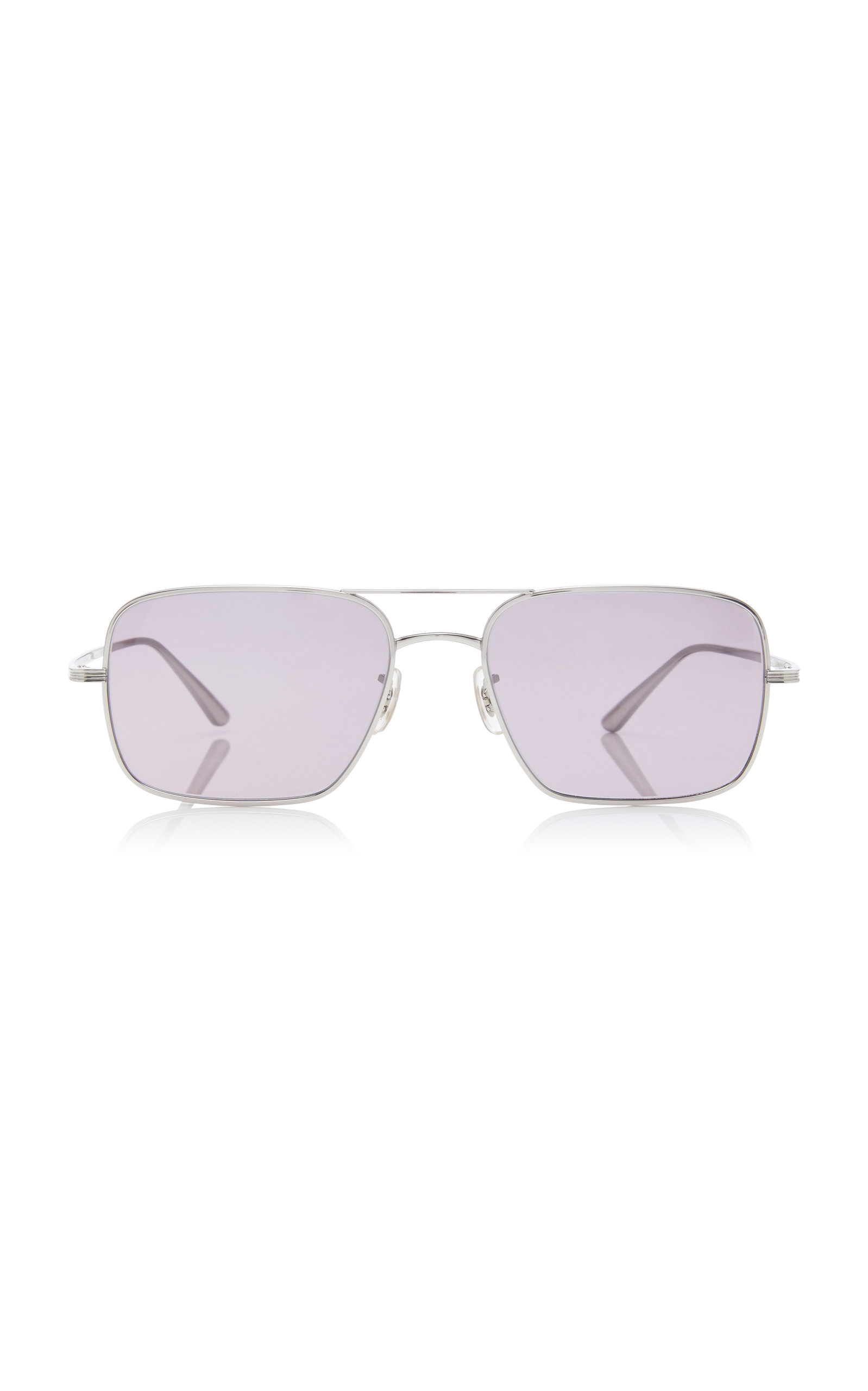 OLIVER PEOPLES X THE ROW | Oliver Peoples THE ROW Victory LA Aviator Sunglasses | Goxip
