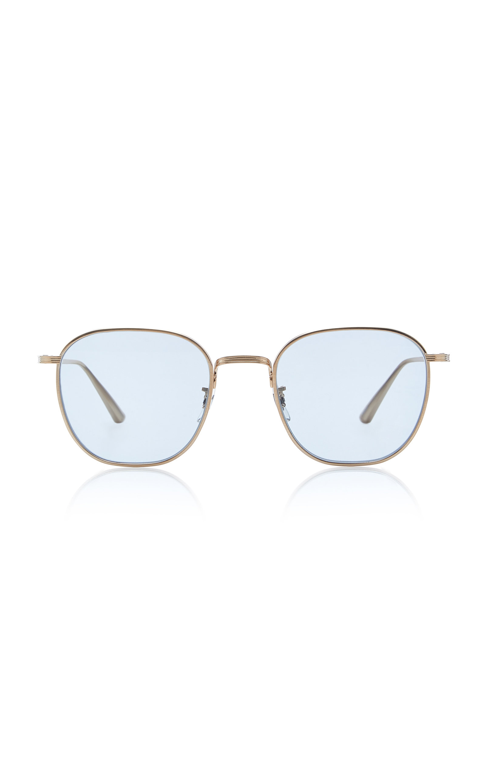 8b04077bed Board Meeting Square-Frame Metal Sunglasses by Oliver Peoples THE ...