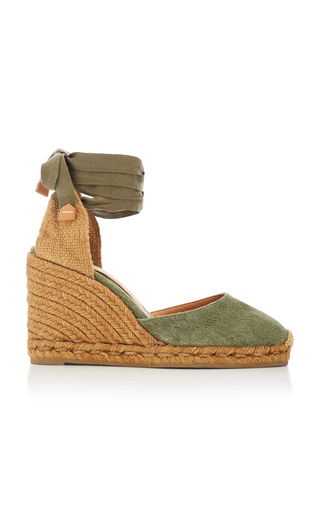 CASTAÑER | Castañer Carina Tie Canvas Espadrille Wedge Sandals | Goxip