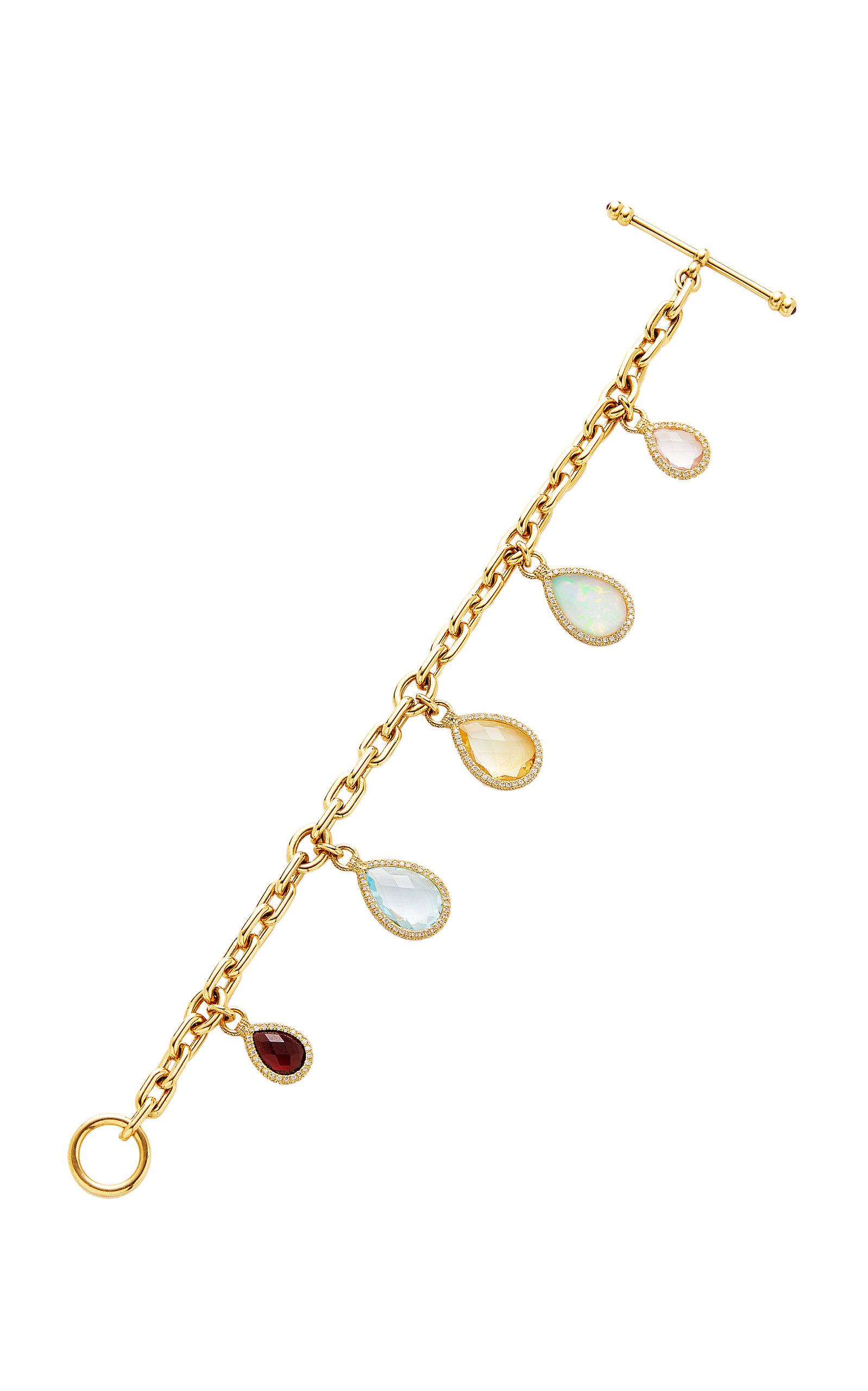 NINA RUNSDORF Flip Charm Bracelet in Gold