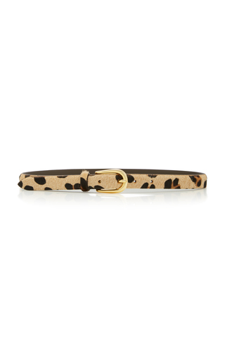 ANDERSON'S   Anderson's Animal-Print Leather Belt   Goxip
