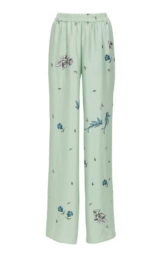 ALENA AKHMADULLINA   Alena Akhmadullina Printed Silk Straight-Leg Pants   Goxip